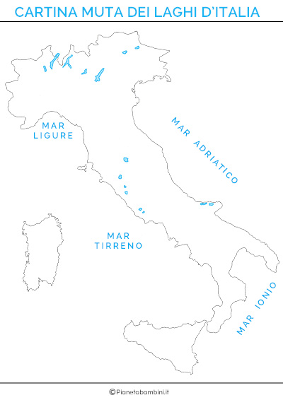Cartina Italia Muta Fiumi.Cartina Dei Laghi D Italia In Versione Muta O Completa Pianetabambini It