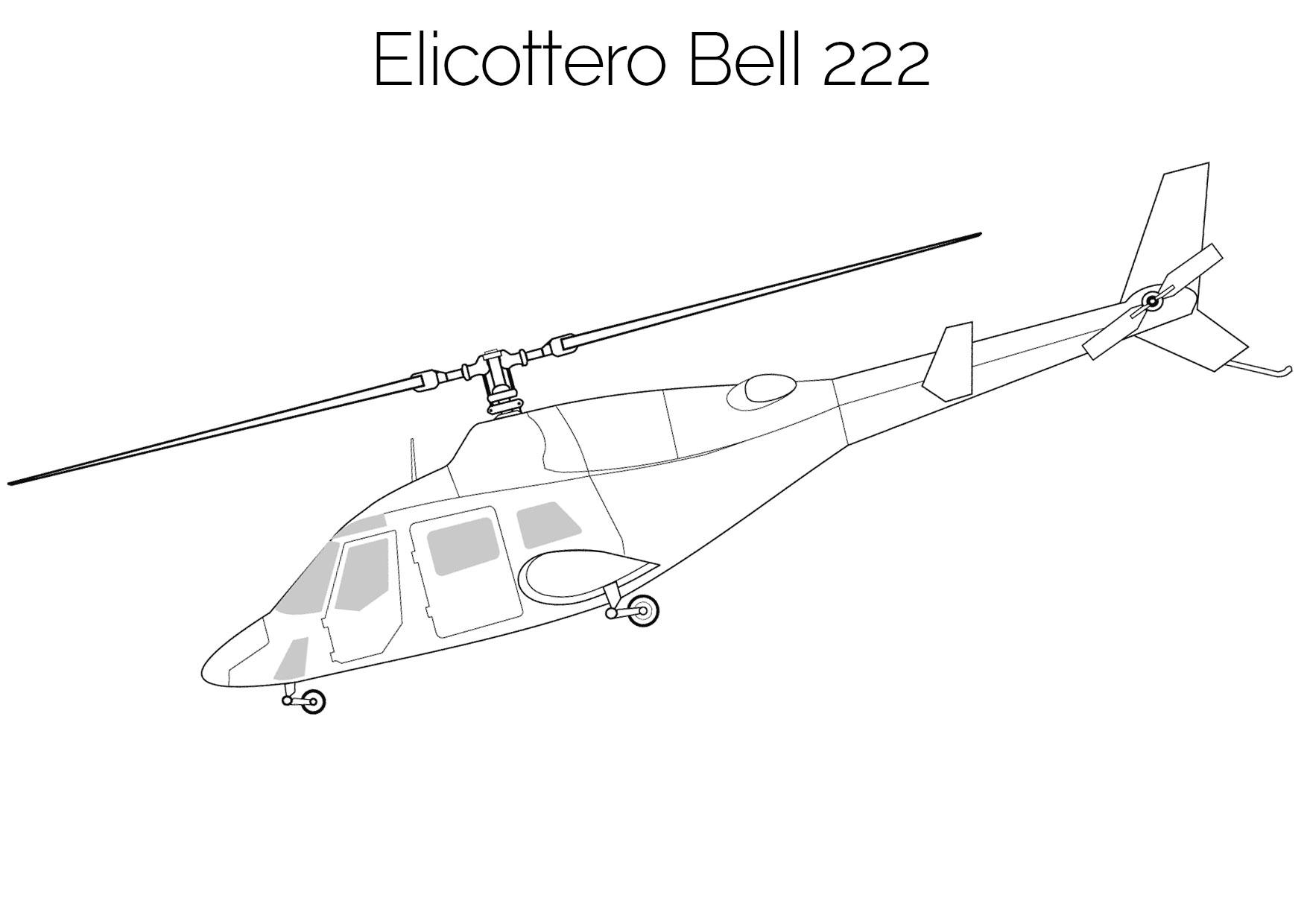Elicottero da colorare Bell 222