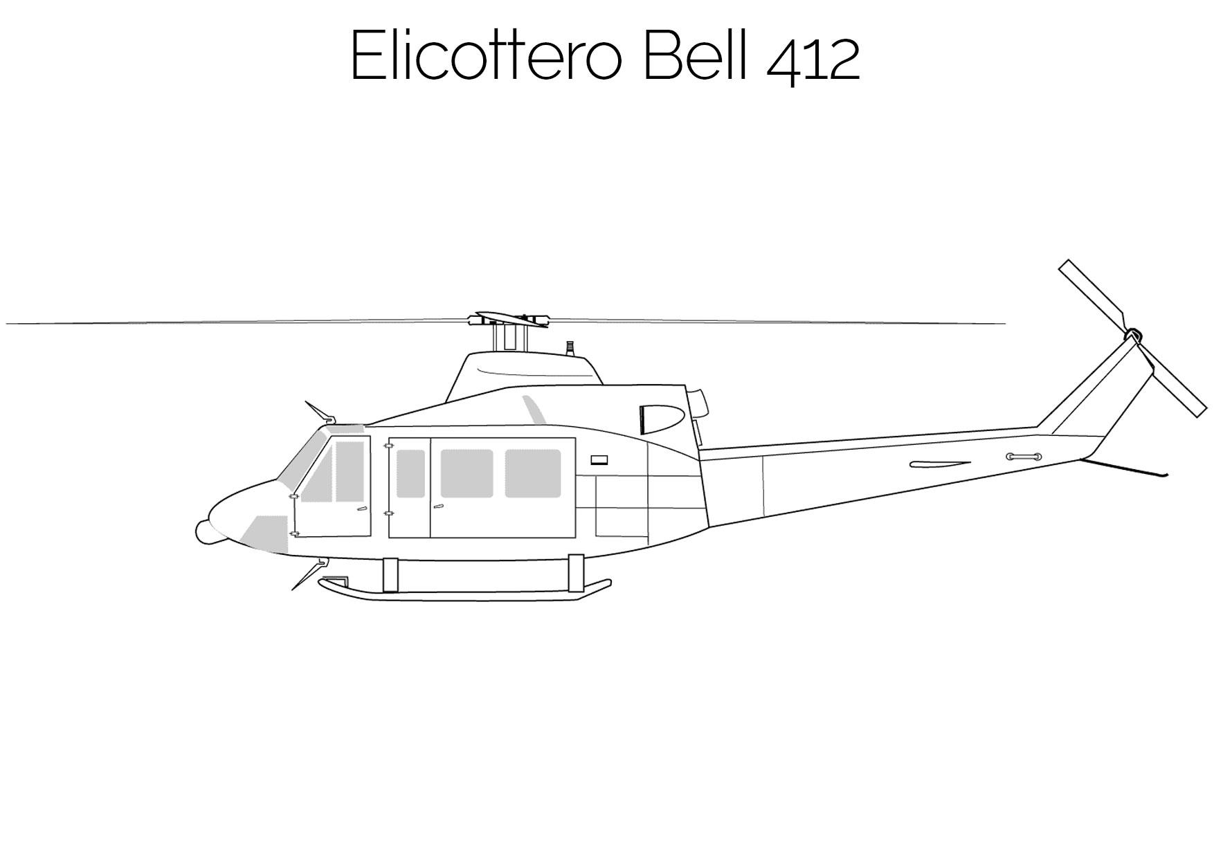 Elicottero da colorare Bell 412