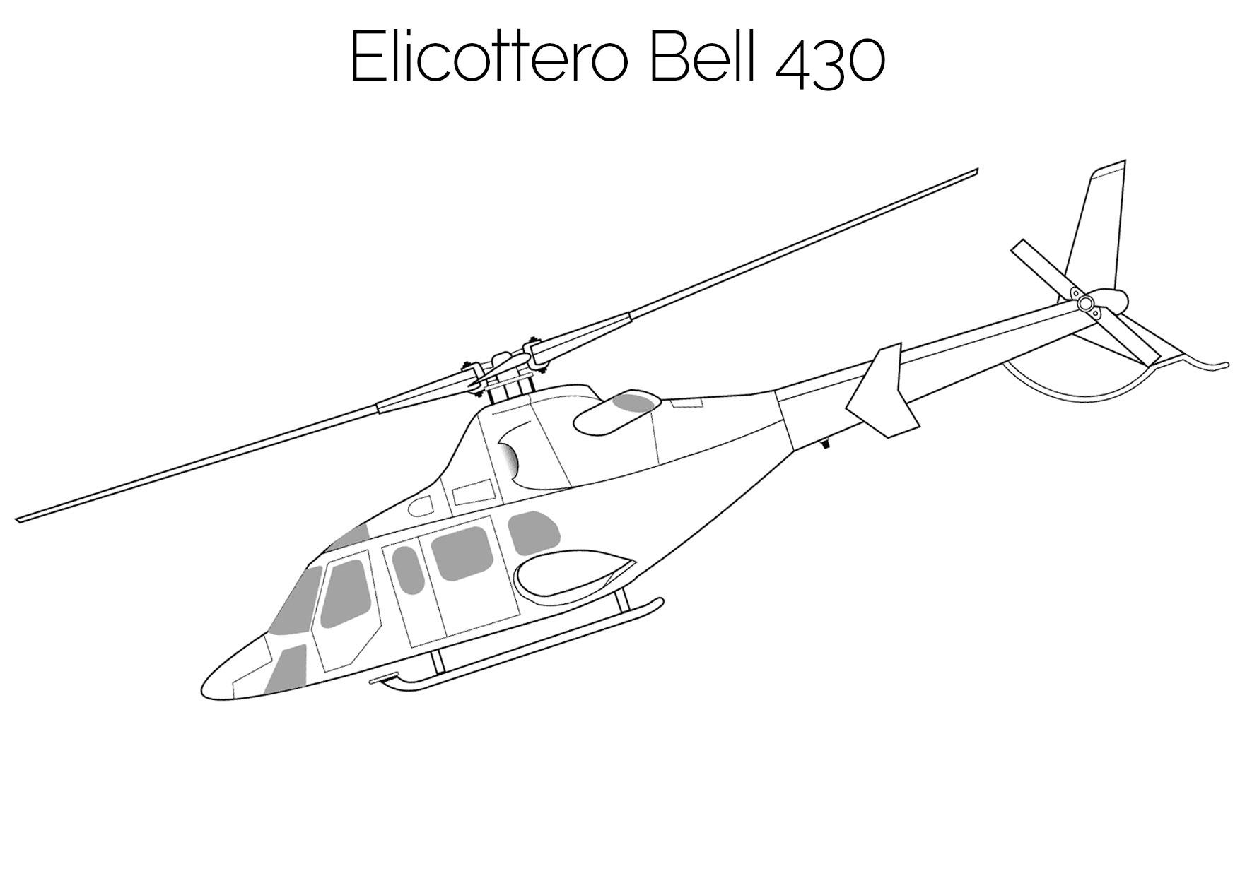 Elicottero da colorare Bell 430