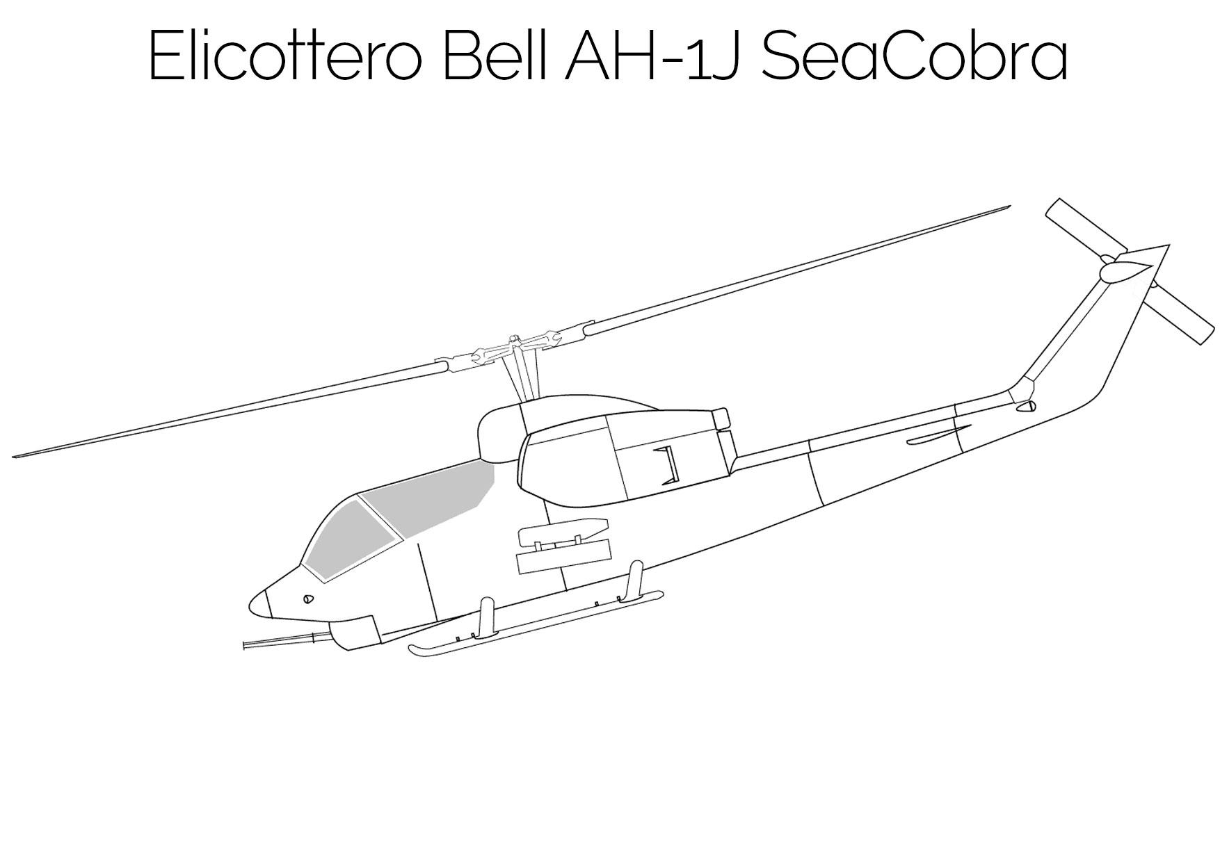 Elicottero da colorare Bell AH 1J SeaCobra