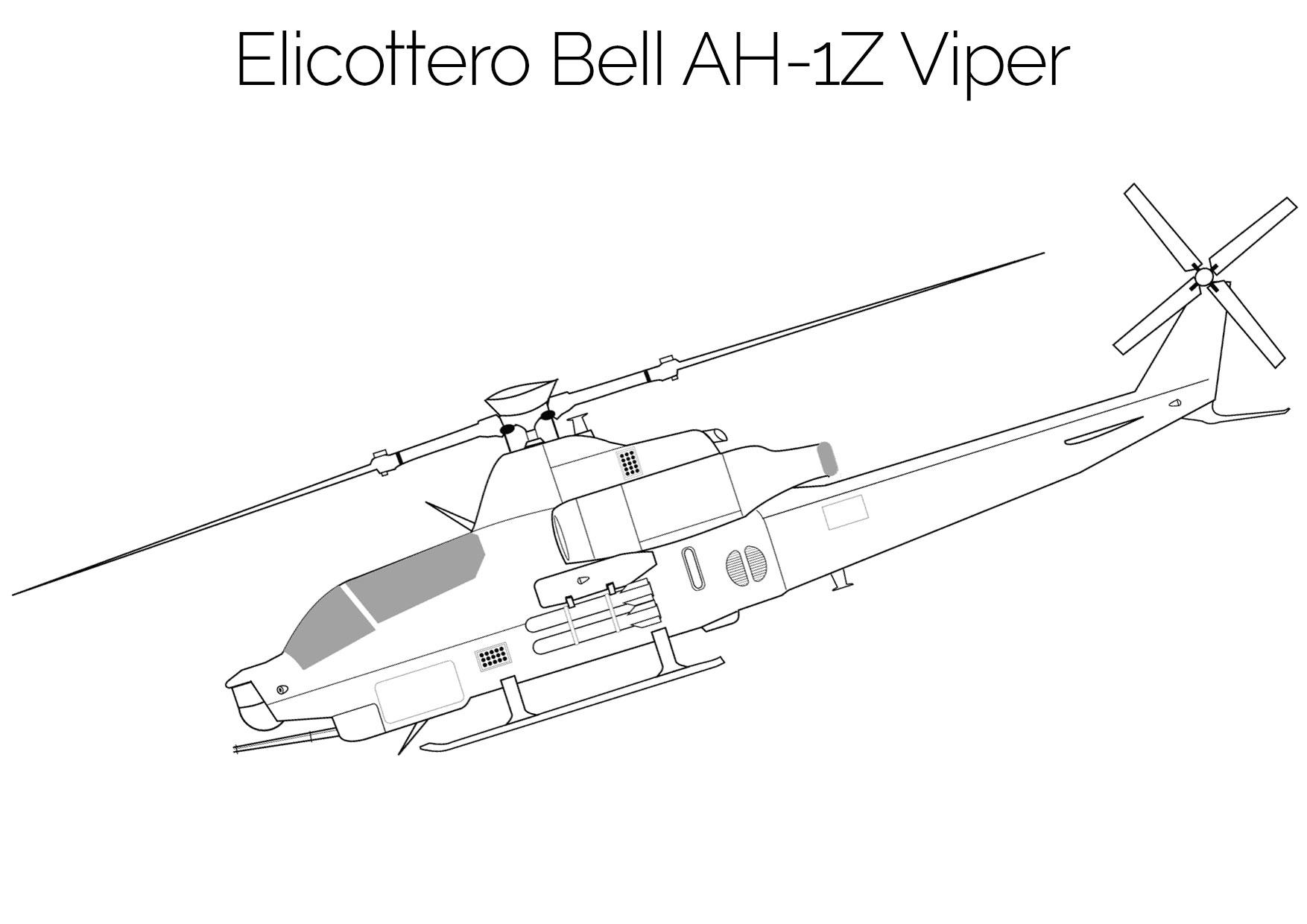 Elicottero da colorare Bell AH 1Z Viper