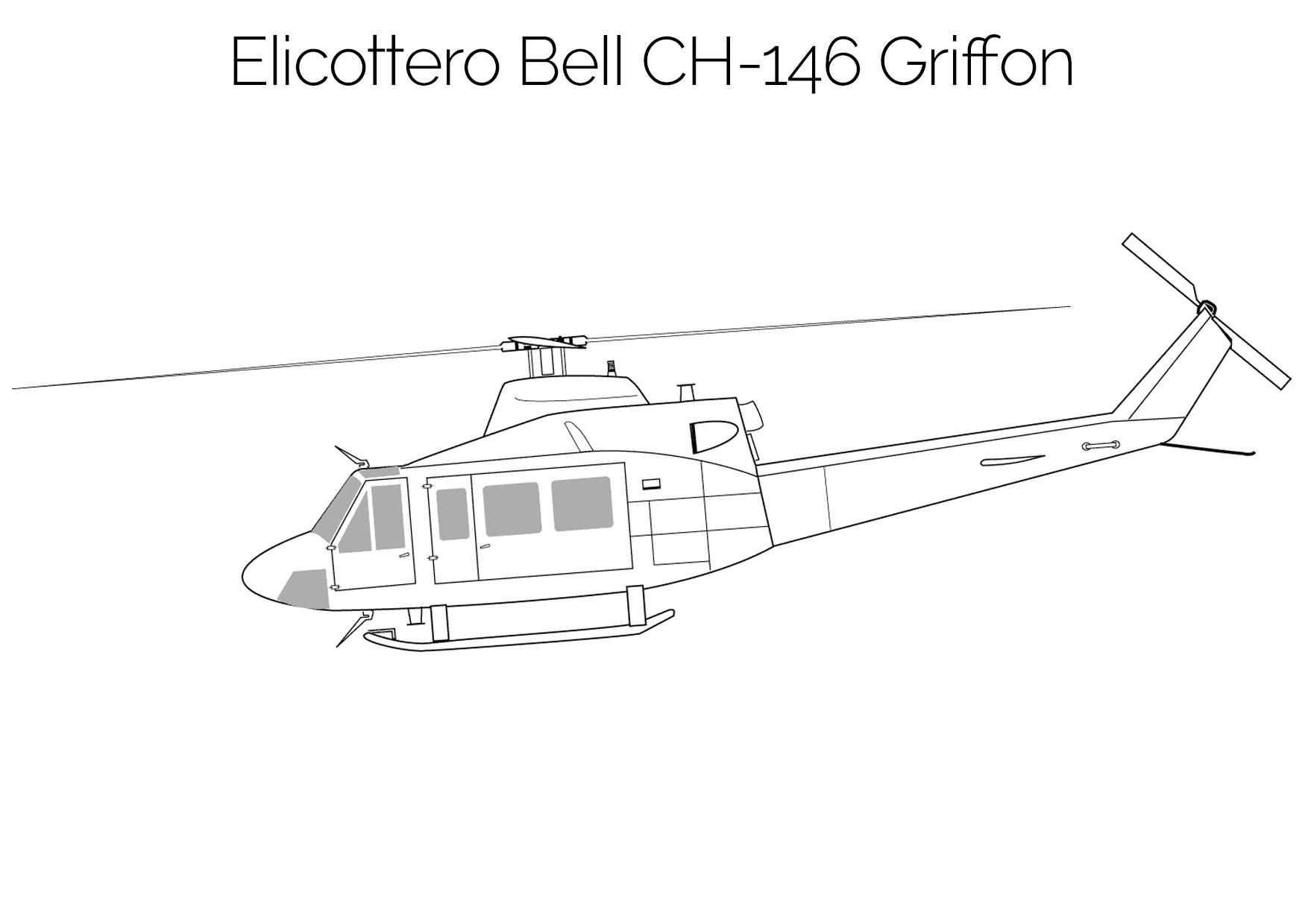 Elicottero da colorare Bell CH 146 Griffon