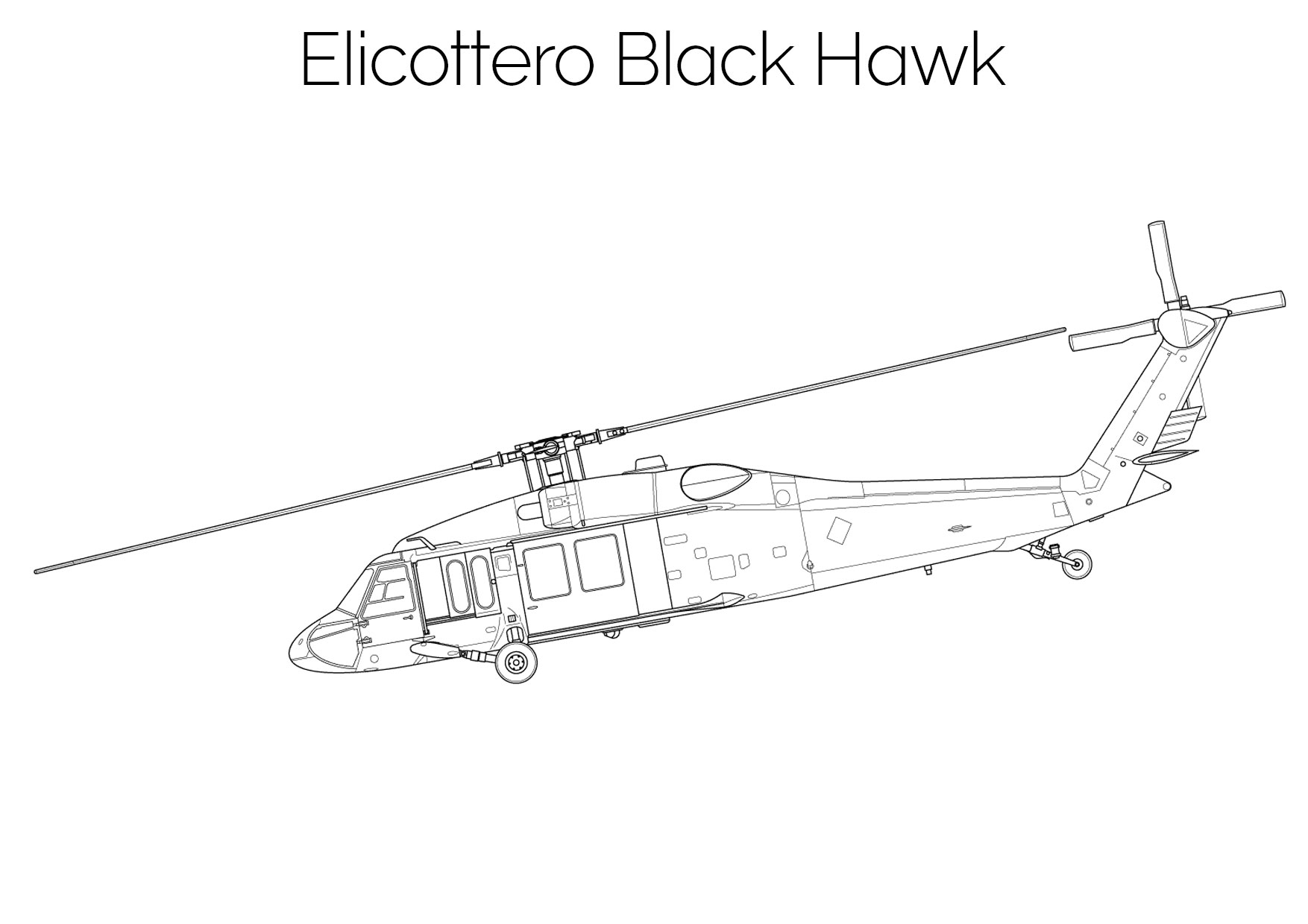 Elicottero da colorare Black Hawk