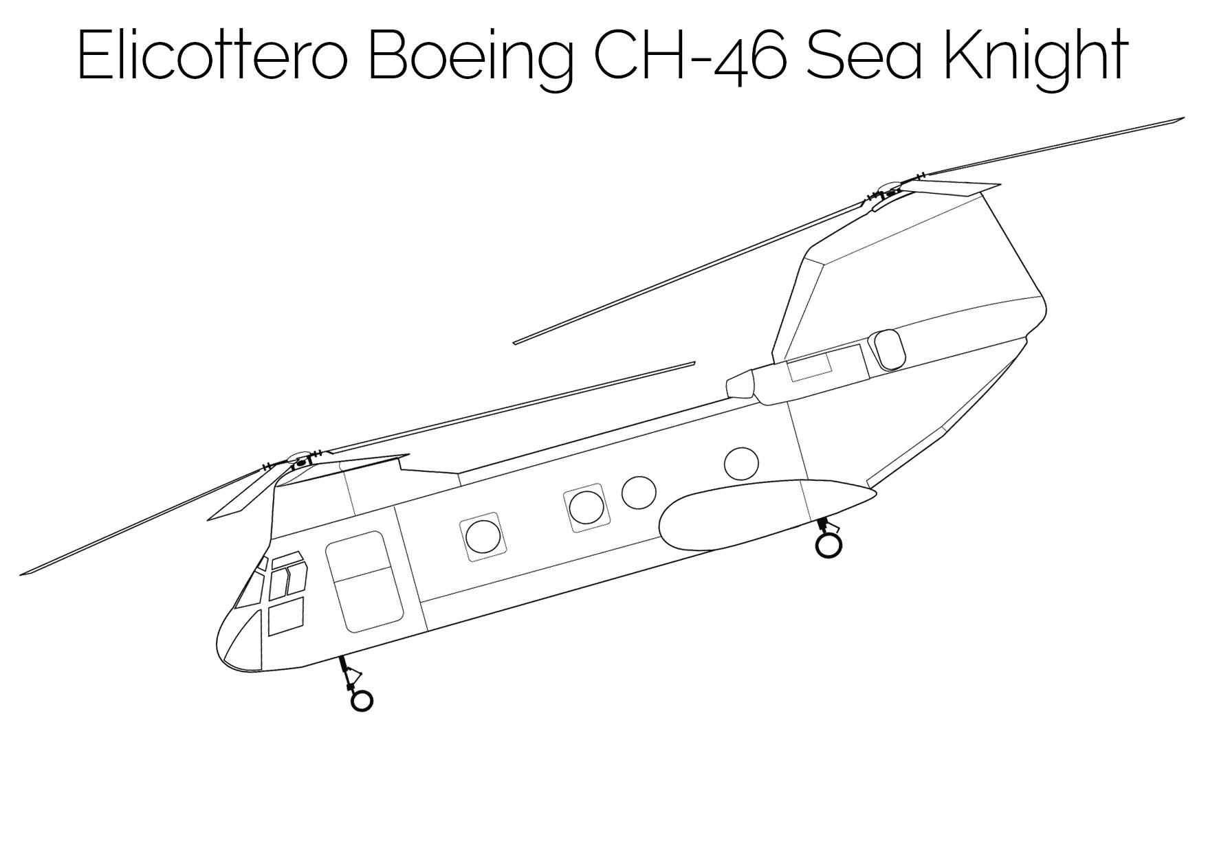 Elicottero da colorare Boeing CH 46 Sea Knight