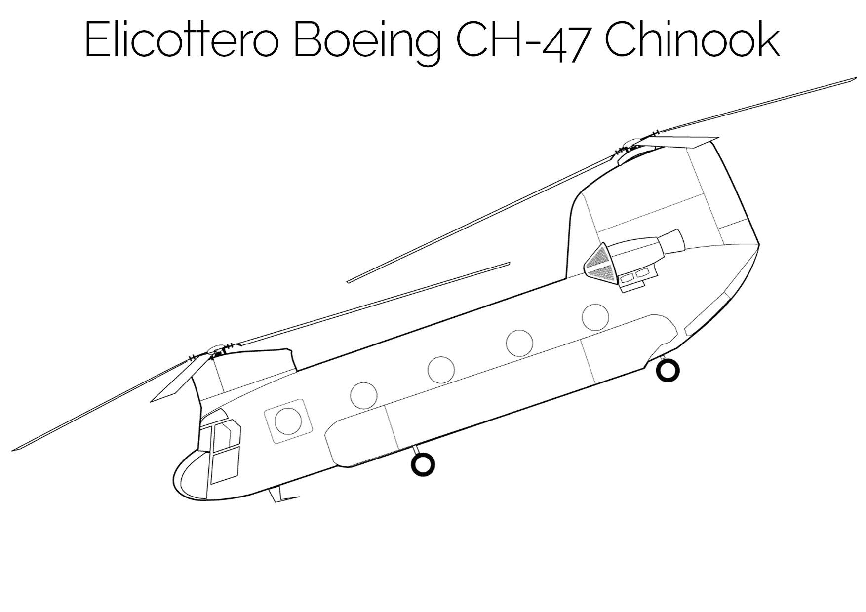 Elicottero da colorare Boeing CH 47 Chinook