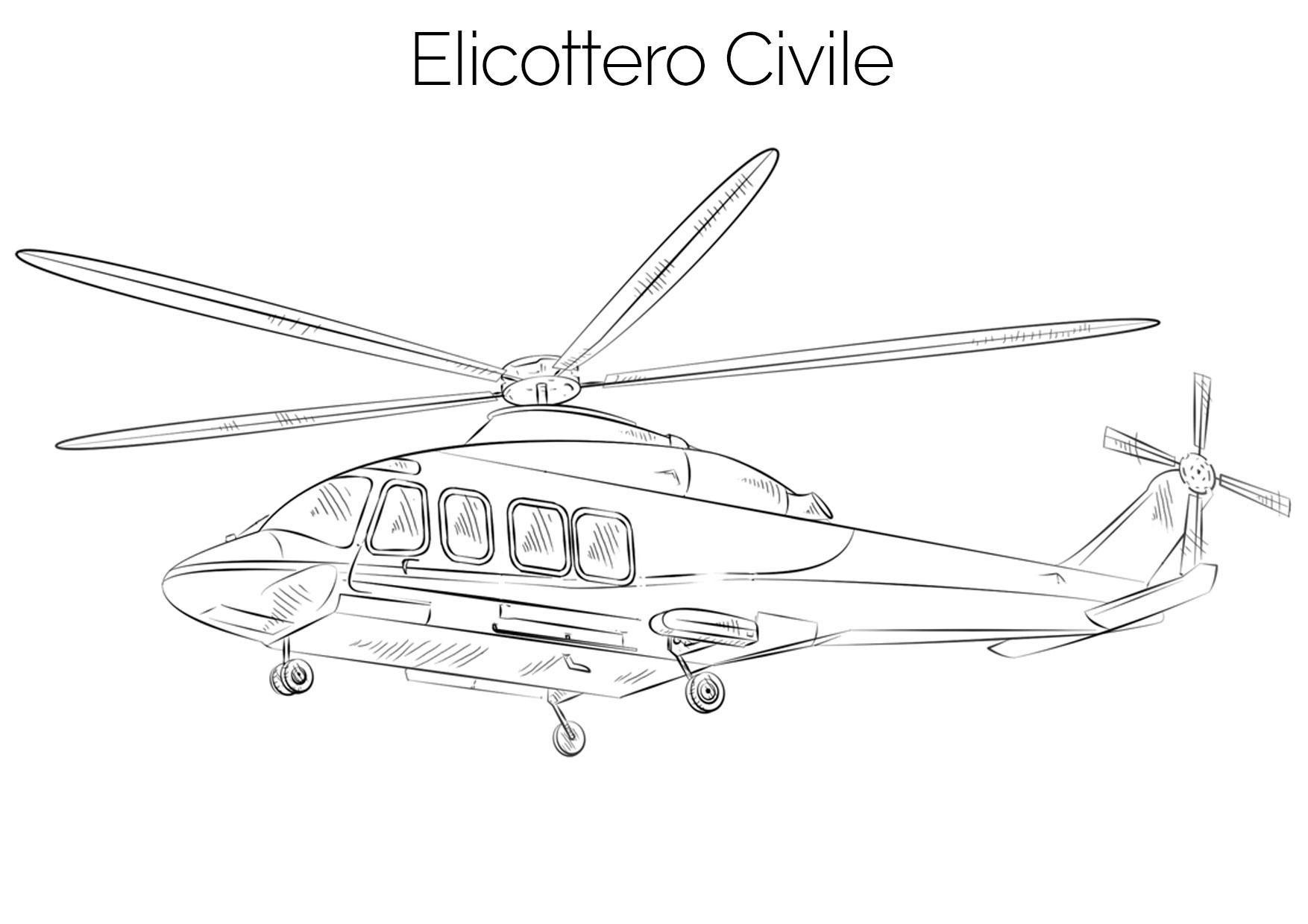 Elicottero civile da colorare