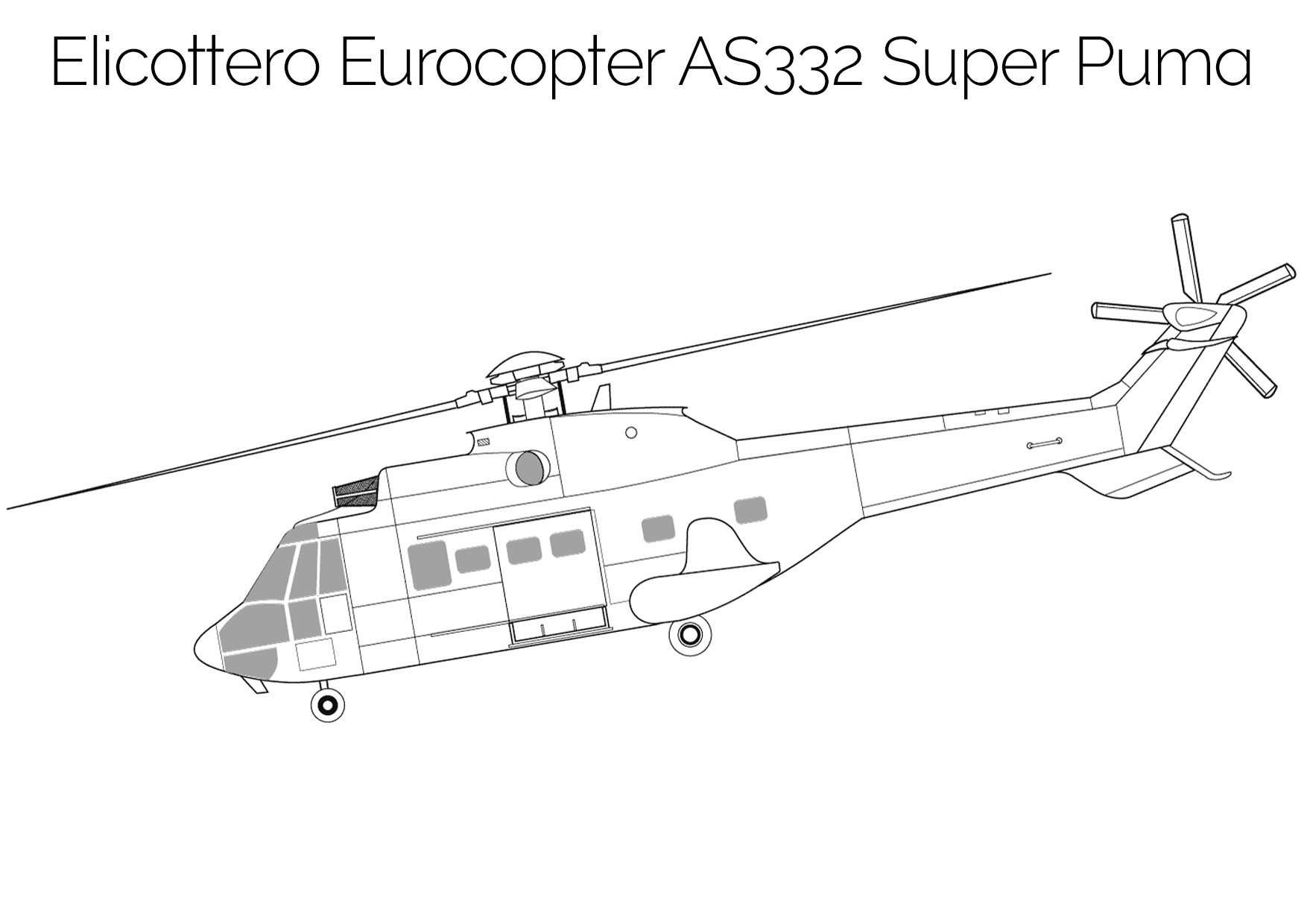 Elicottero da colorare Eurocopter AS332 Super Puma