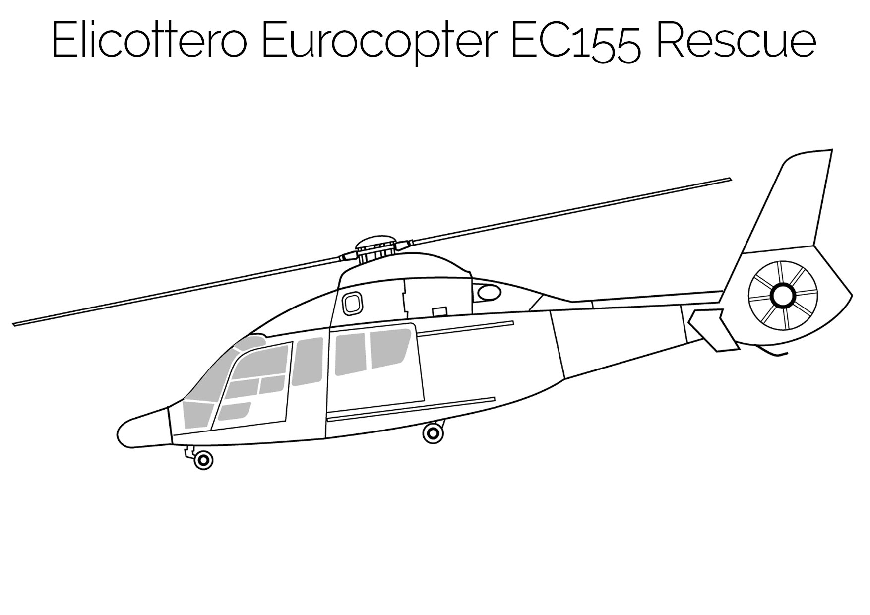 Elicottero da colorare Eurocopter EC155 Rescue