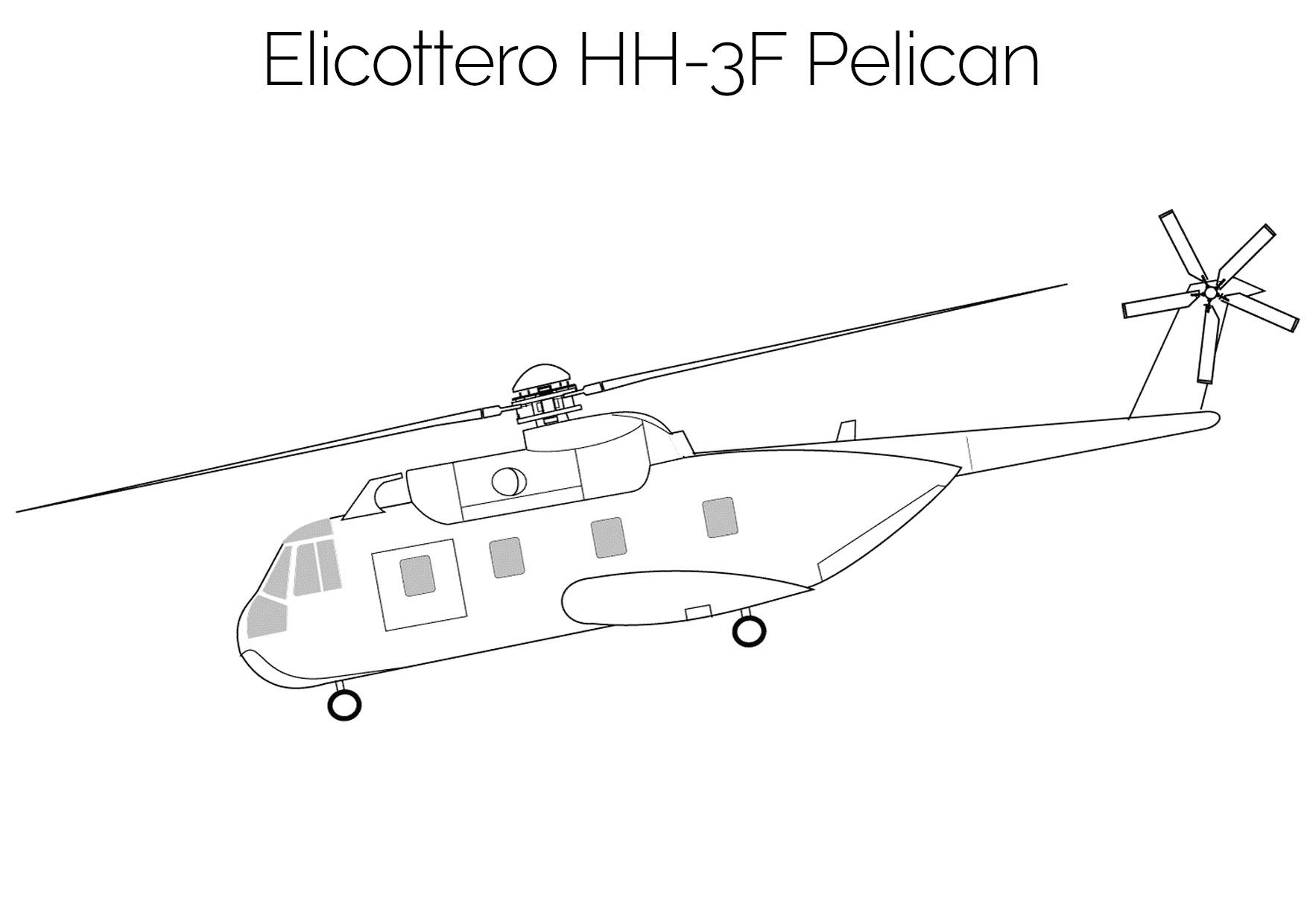 Elicottero da colorare HH 3F Pelican