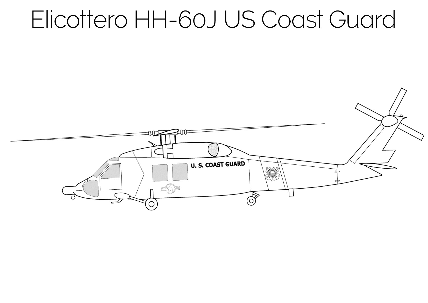 Elicottero da colorare HH 60J US Coast Guard