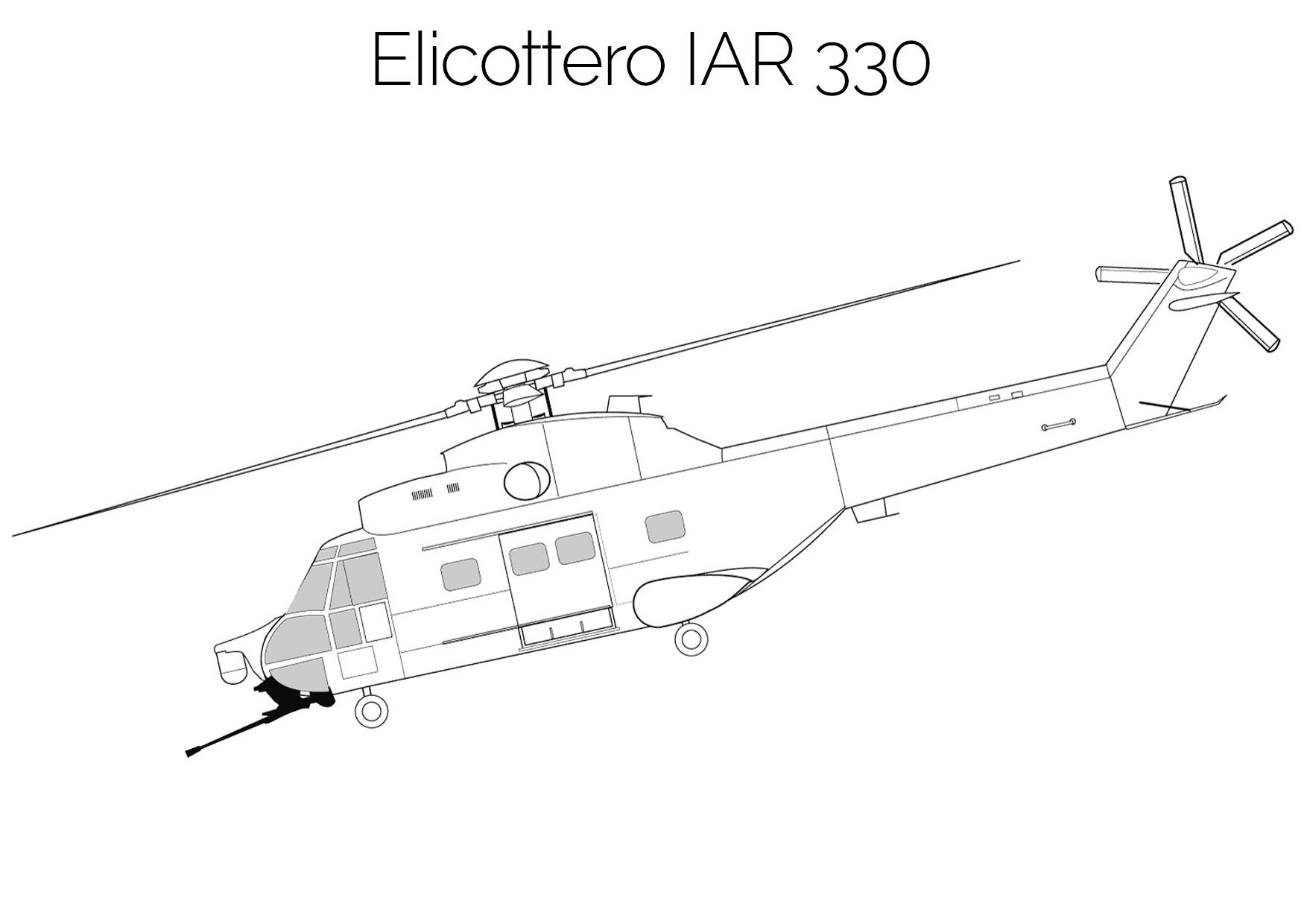 Elicottero da colorare IAR 330