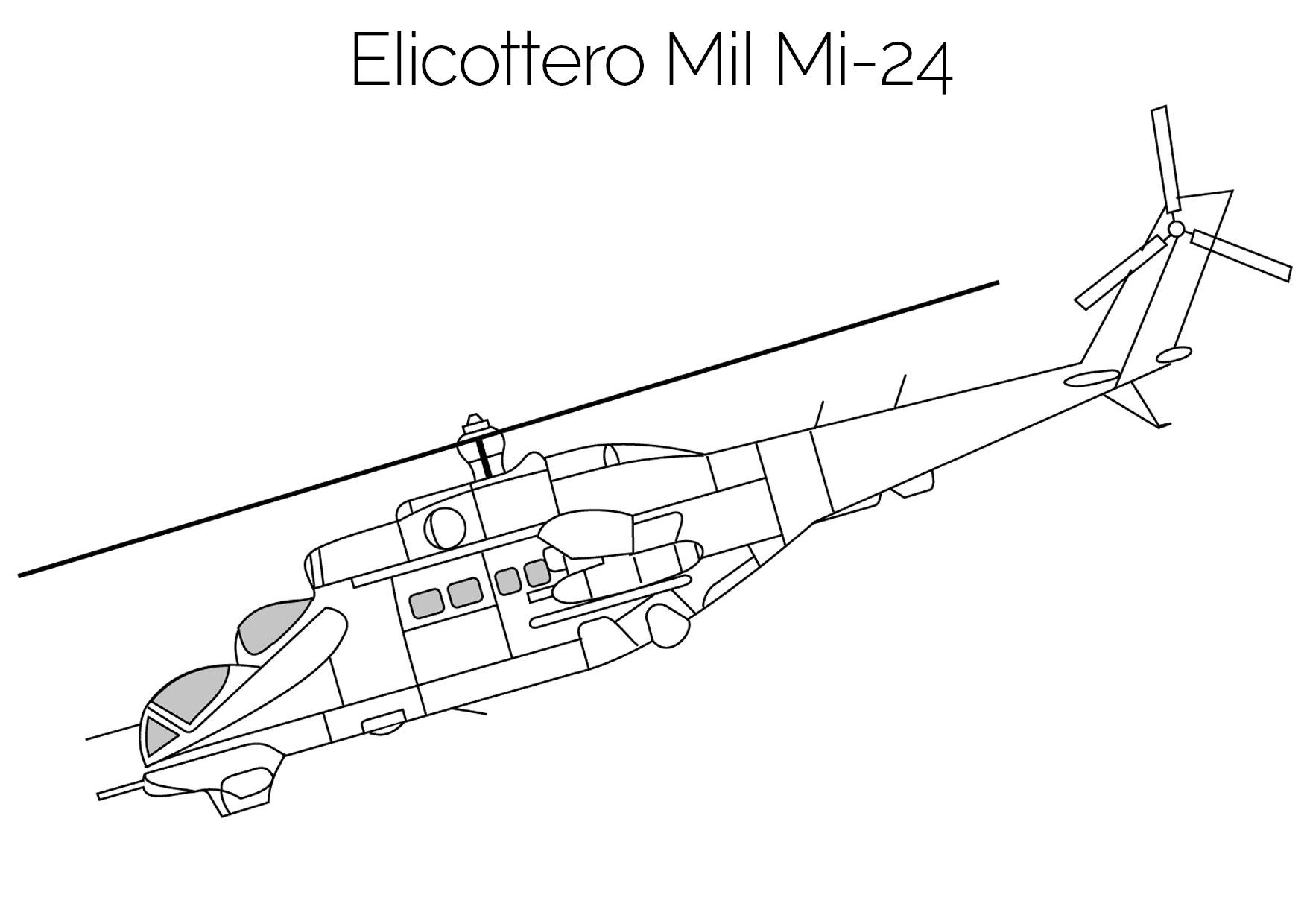 Elicottero da colorare Mil Mi 24