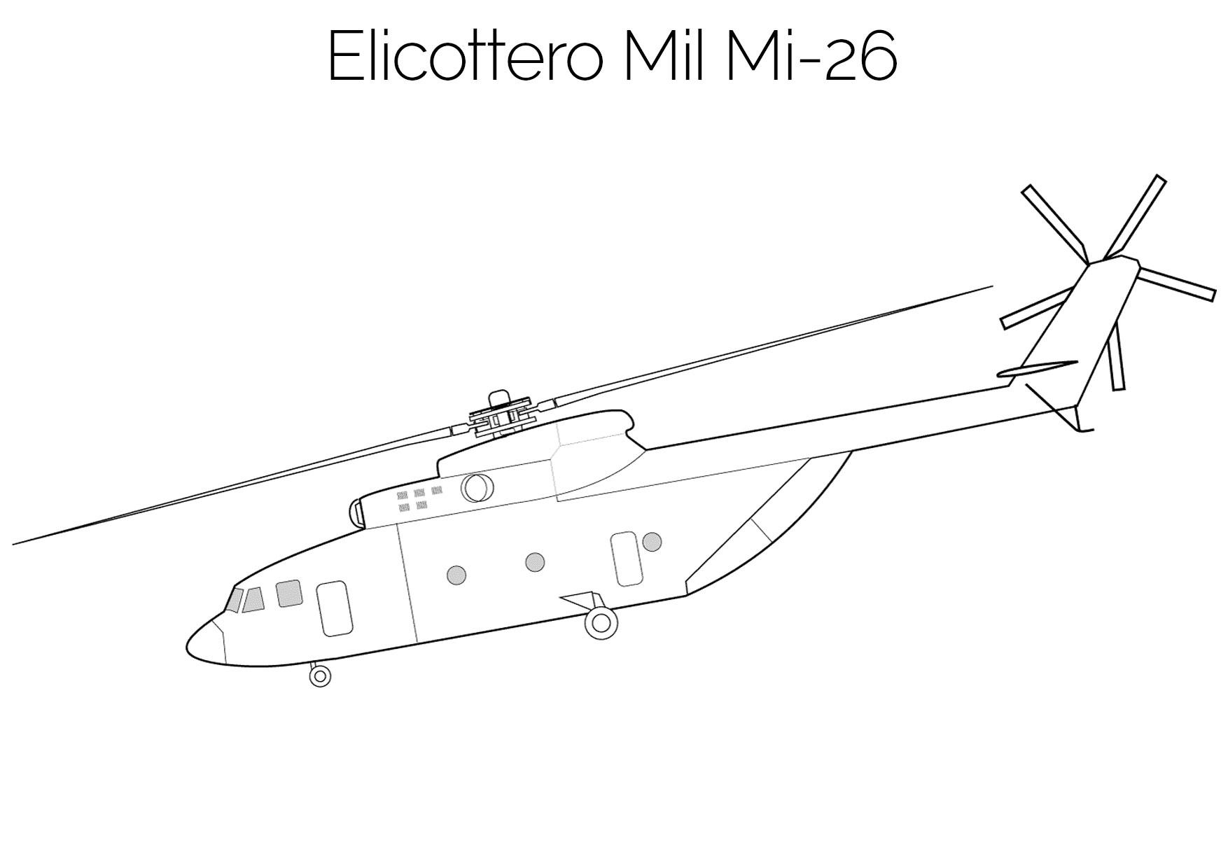 Elicottero da colorare Mil Mi 26