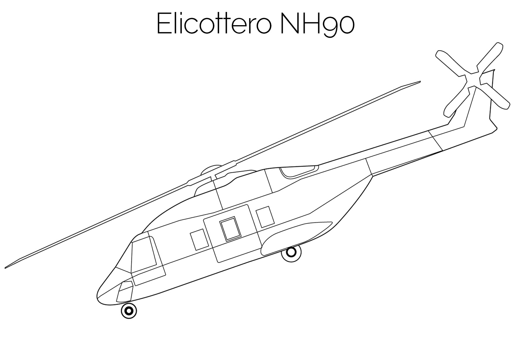 Elicottero da colorare NH90