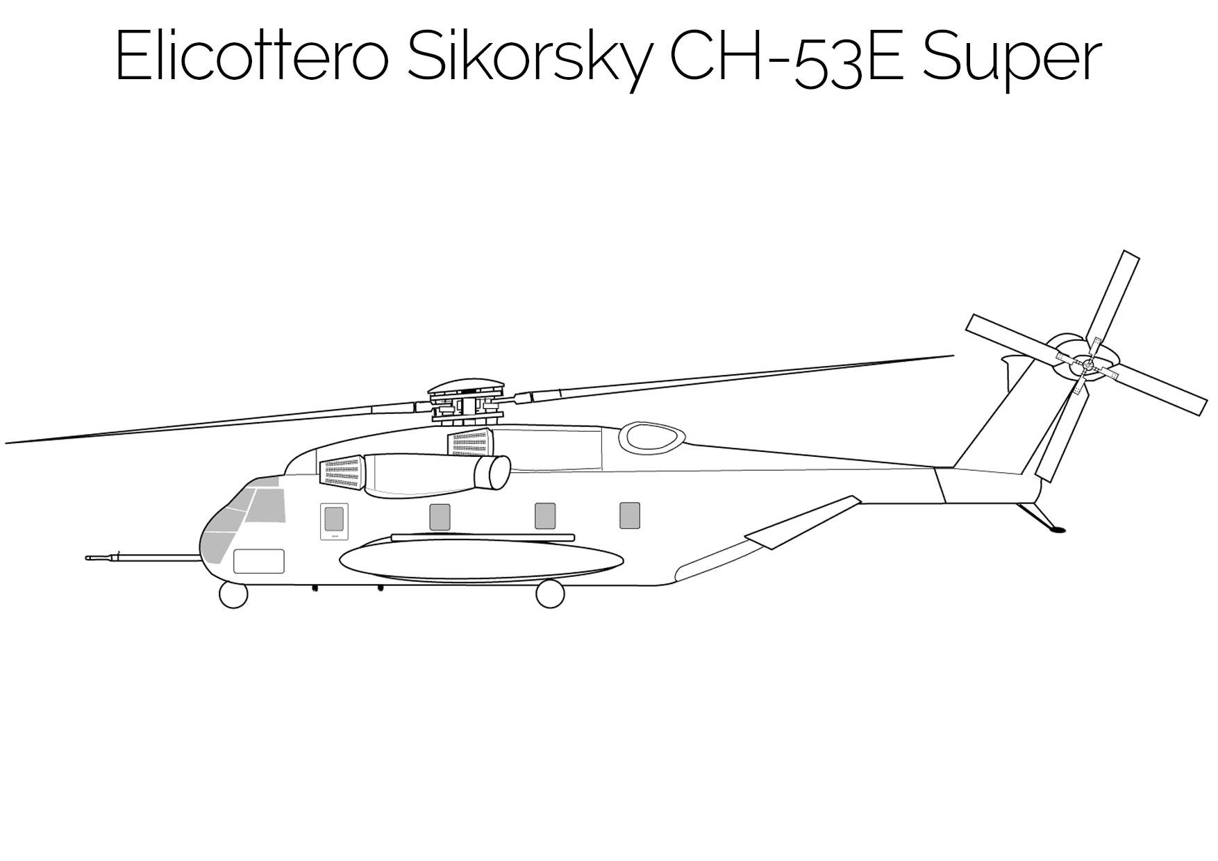 Elicottero da colorare Sikorsky CH 53E Super