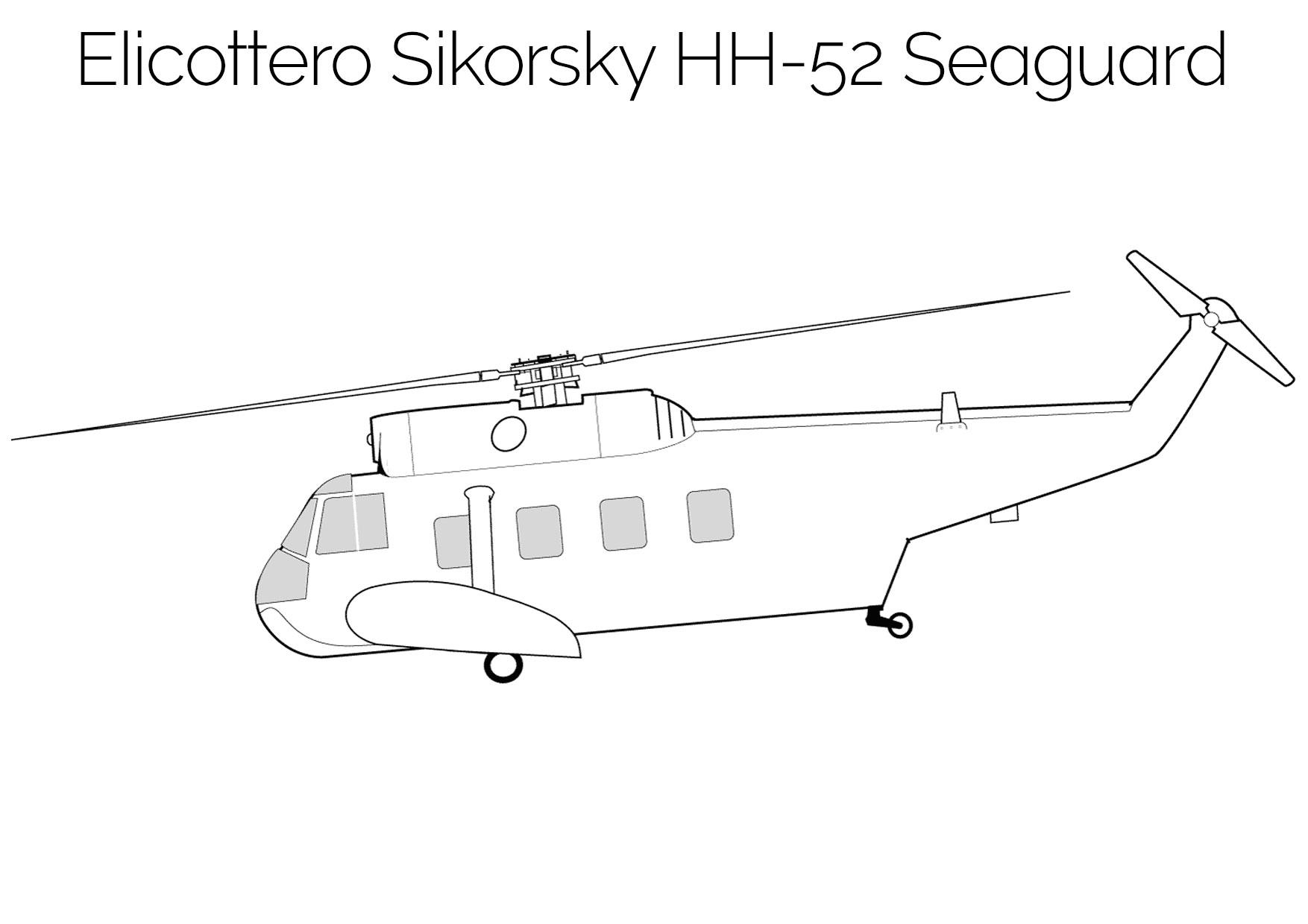 Elicottero da colorare Sikorsky HH 52 Seaguard