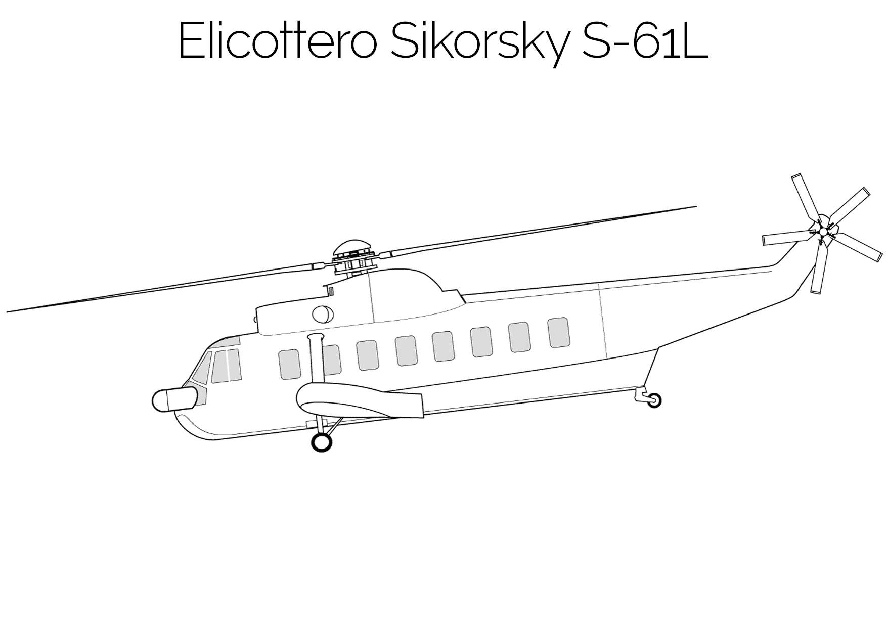 Elicottero da colorare Sikorsky S 61L