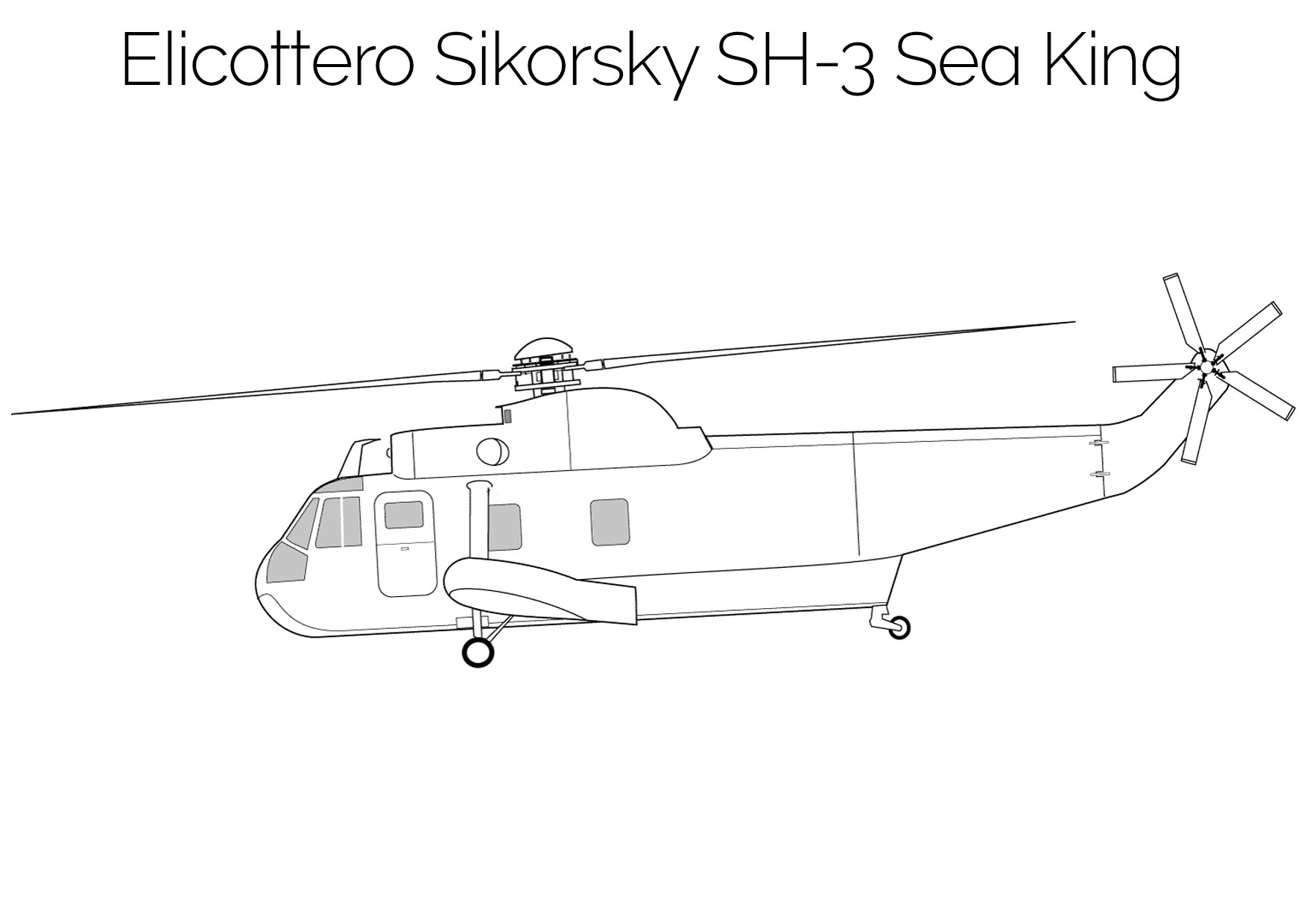 Elicottero da colorare Sikorsky SH 3 Sea King