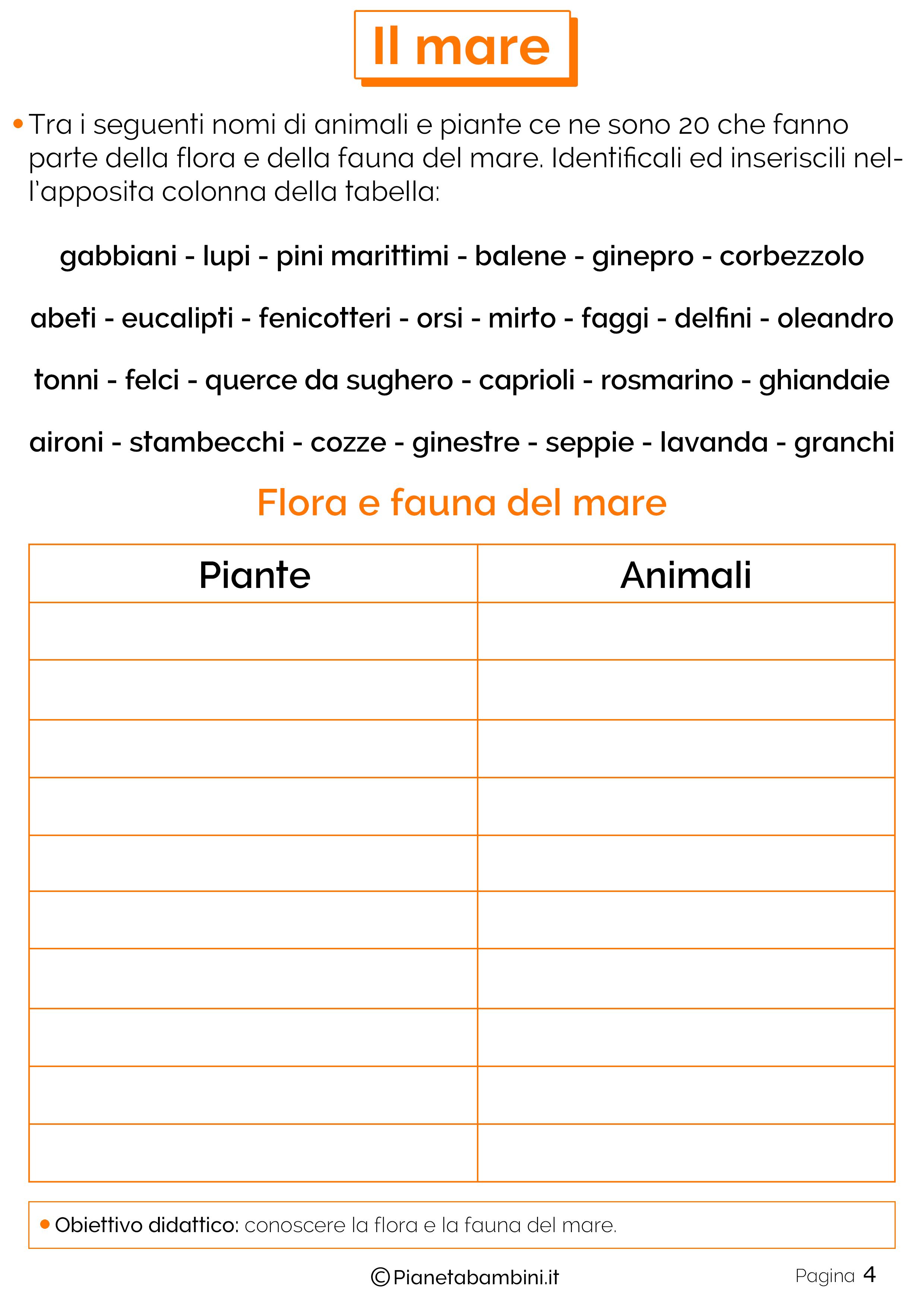 Ben noto Il Mare: Schede Didattiche per la Scuola Primaria | PianetaBambini.it WX71