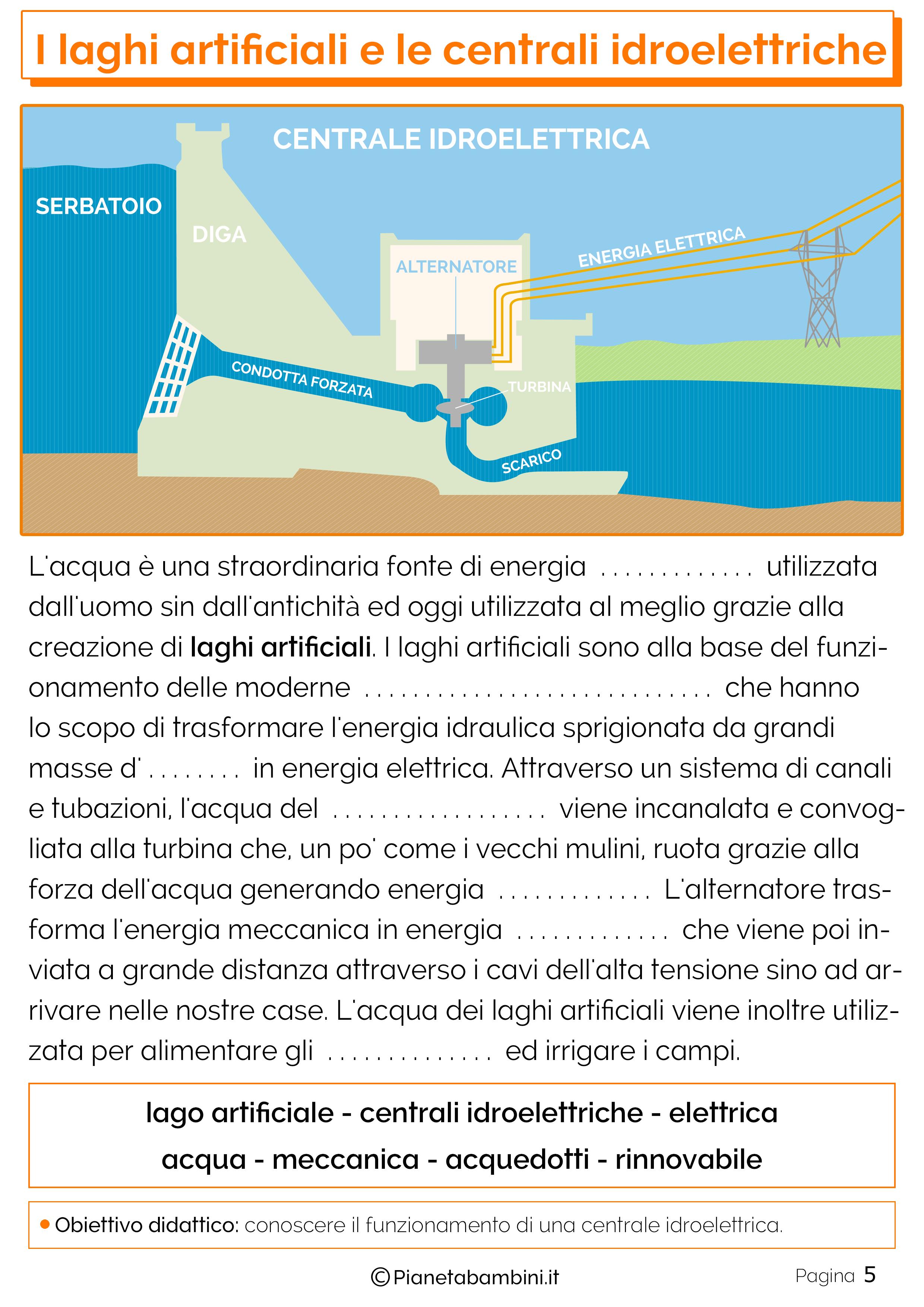 Esercizi su laghi artificiali e centrali idroelettriche