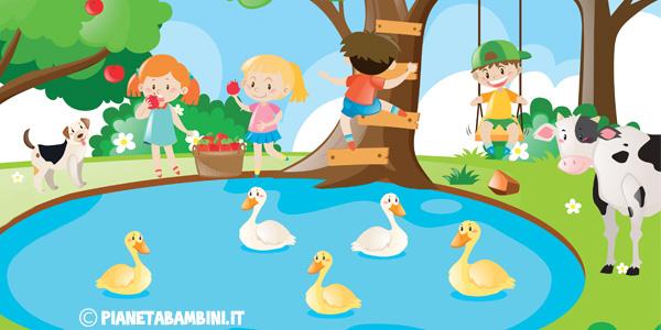 Il lago schede didattiche per la scuola primaria for Disegni di laghi