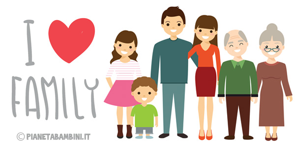 Esercizi sui membri della famiglia in inglese per la scuola primaria da stampare gratis