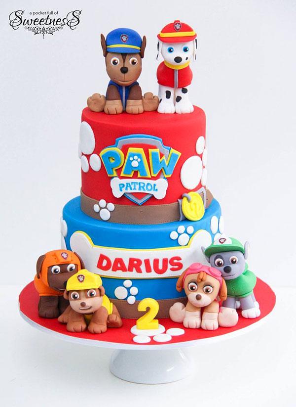 Foto della torta di Paw Patrol n.01