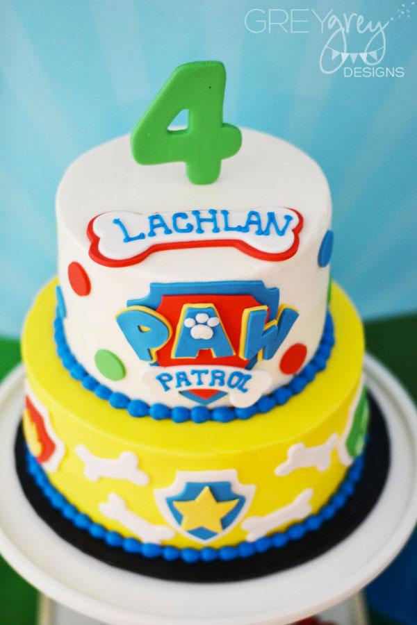 Foto della torta di Paw Patrol n.06