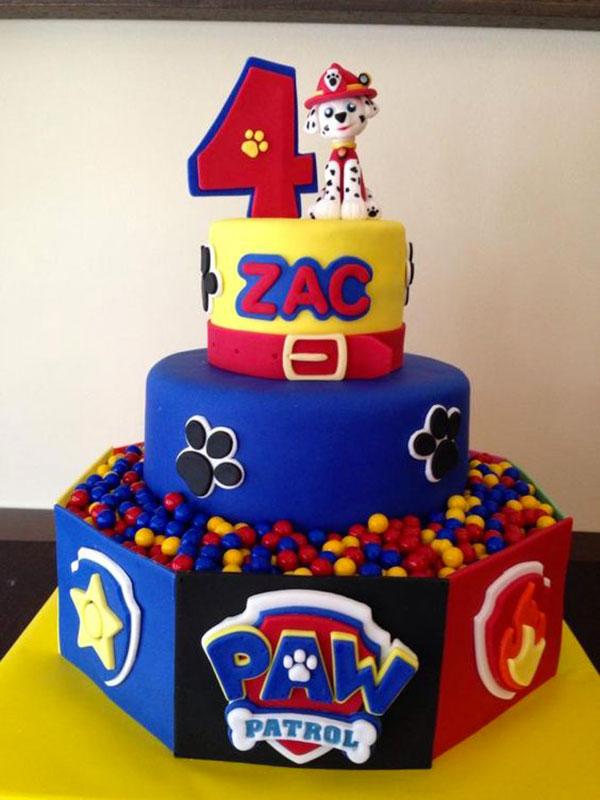 Foto della torta di Paw Patrol n.07