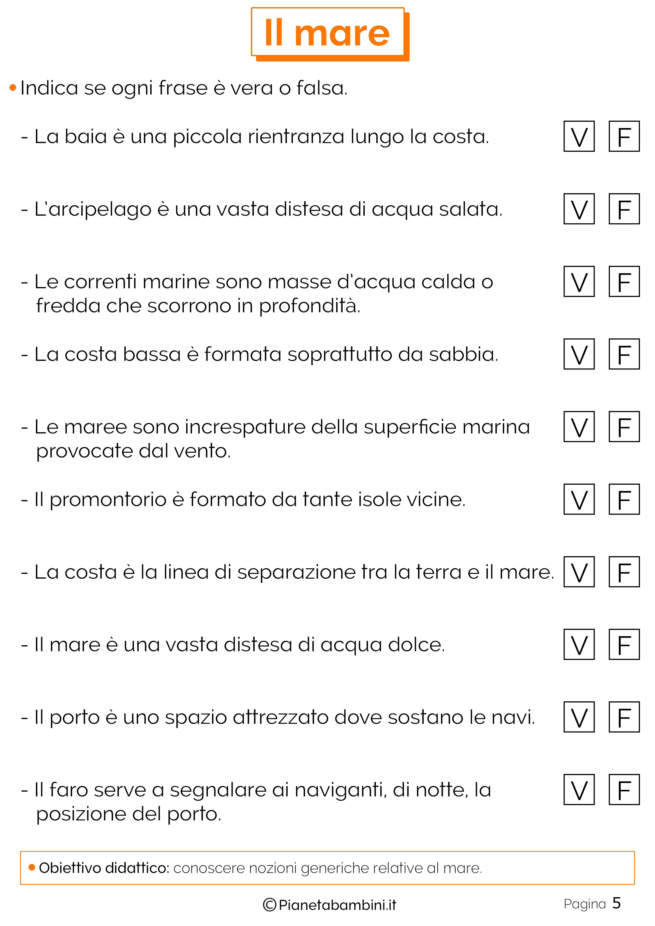 Conosciuto Il Mare: Schede Didattiche per la Scuola Primaria | PianetaBambini.it WR16