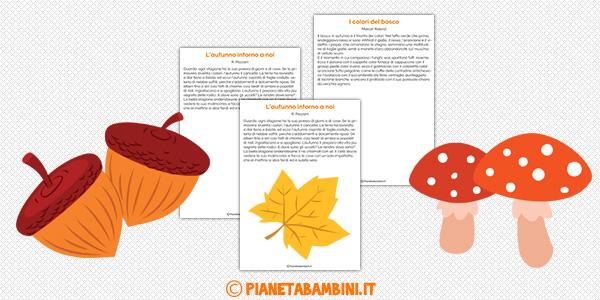 Dettati sull'autunno per la scuola primaria da stampare gratis o leggere online