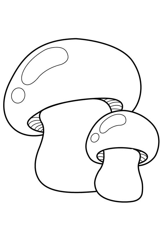 30 disegni di funghi da colorare for Fungo da colorare per bambini
