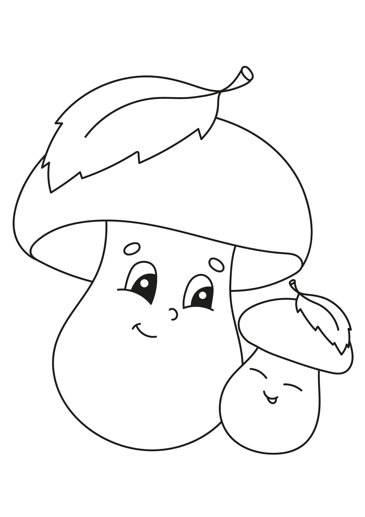 Disegno di funghi da colorare 02