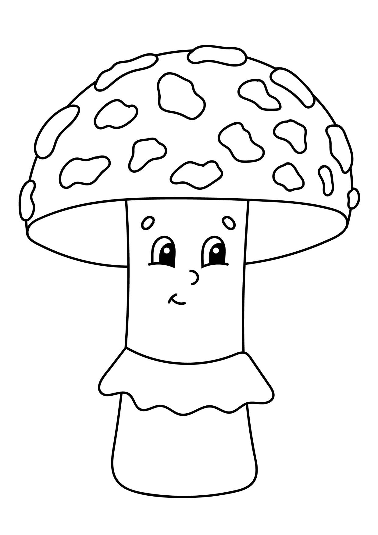 Disegno di funghi da colorare 03