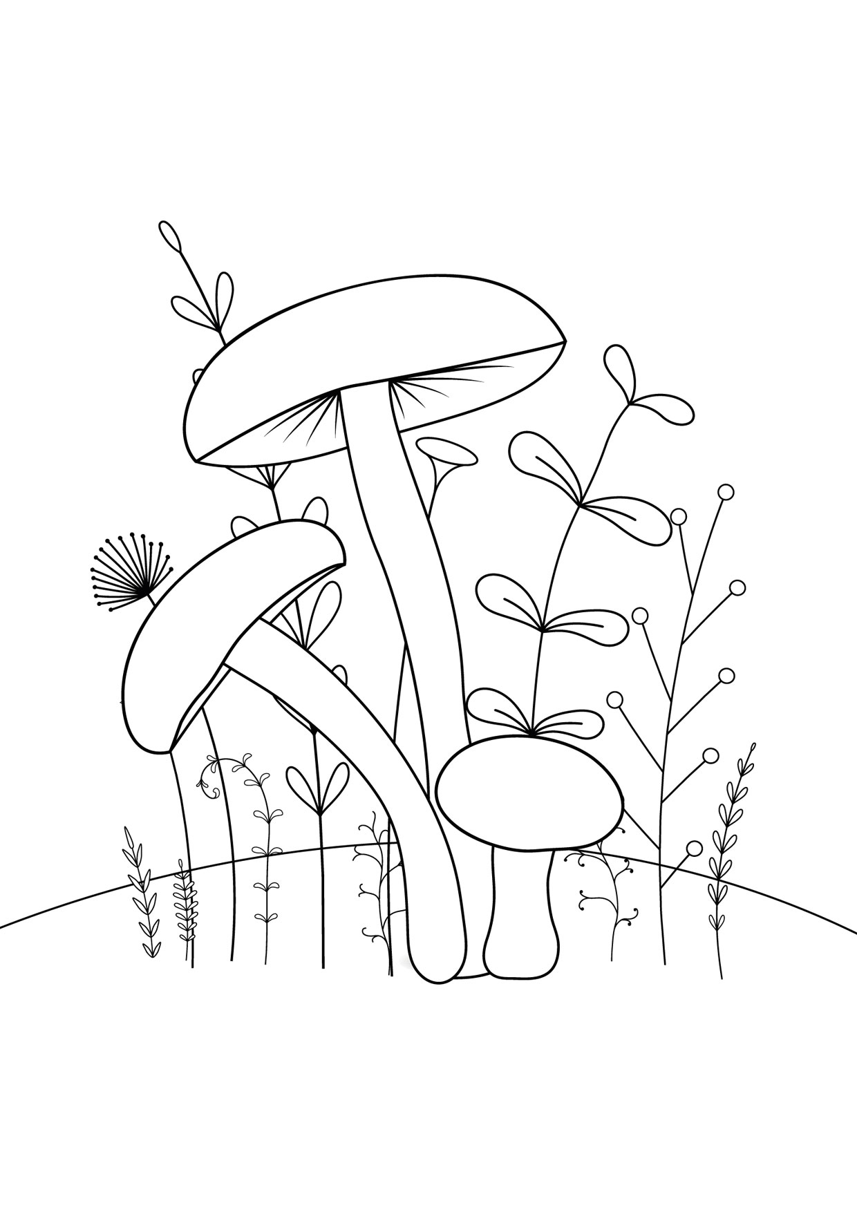 Disegno di funghi da colorare 05