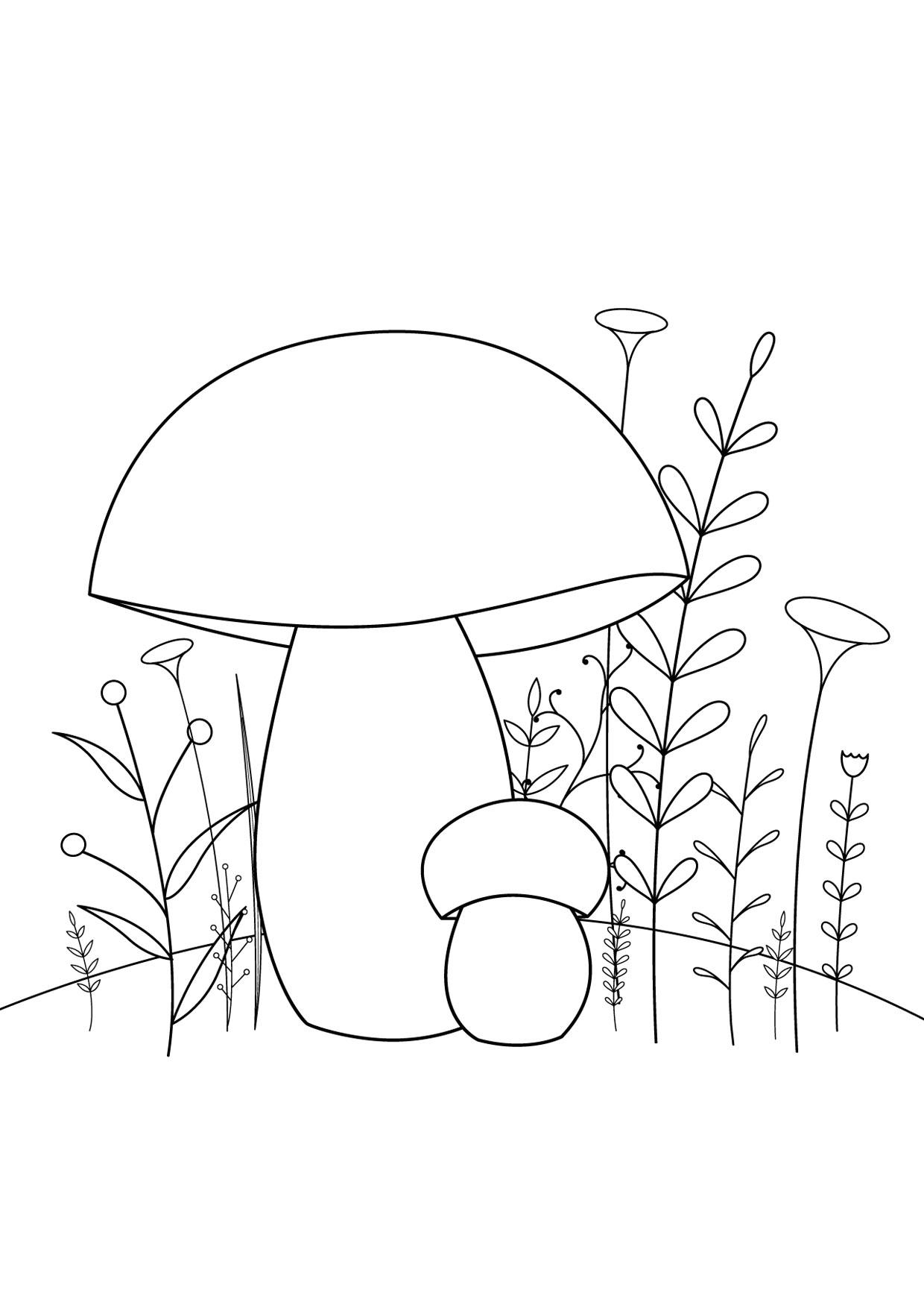 Disegno di funghi da colorare 08