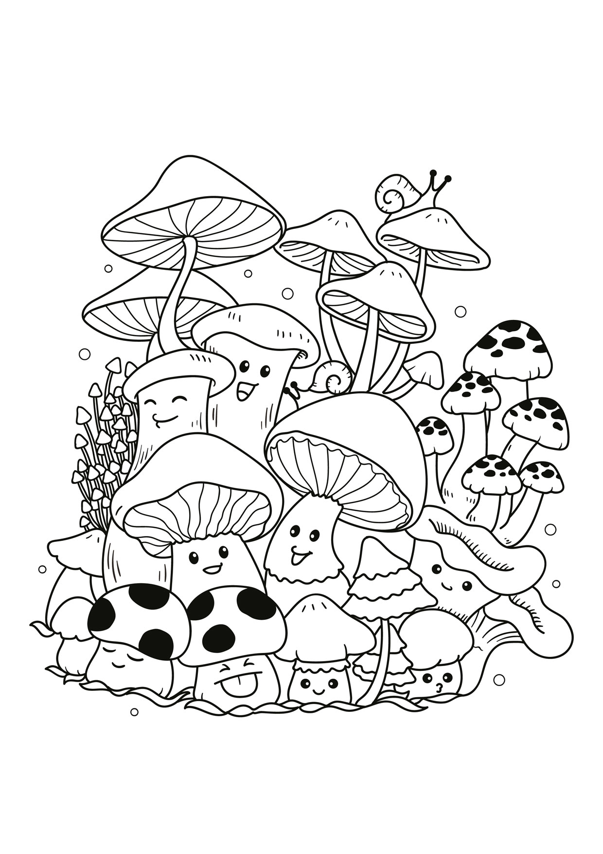 Disegno di funghi da colorare 12