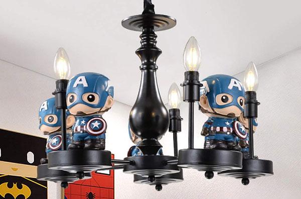 Foto del lampadario per camerette di bambini dei supereroi n.71