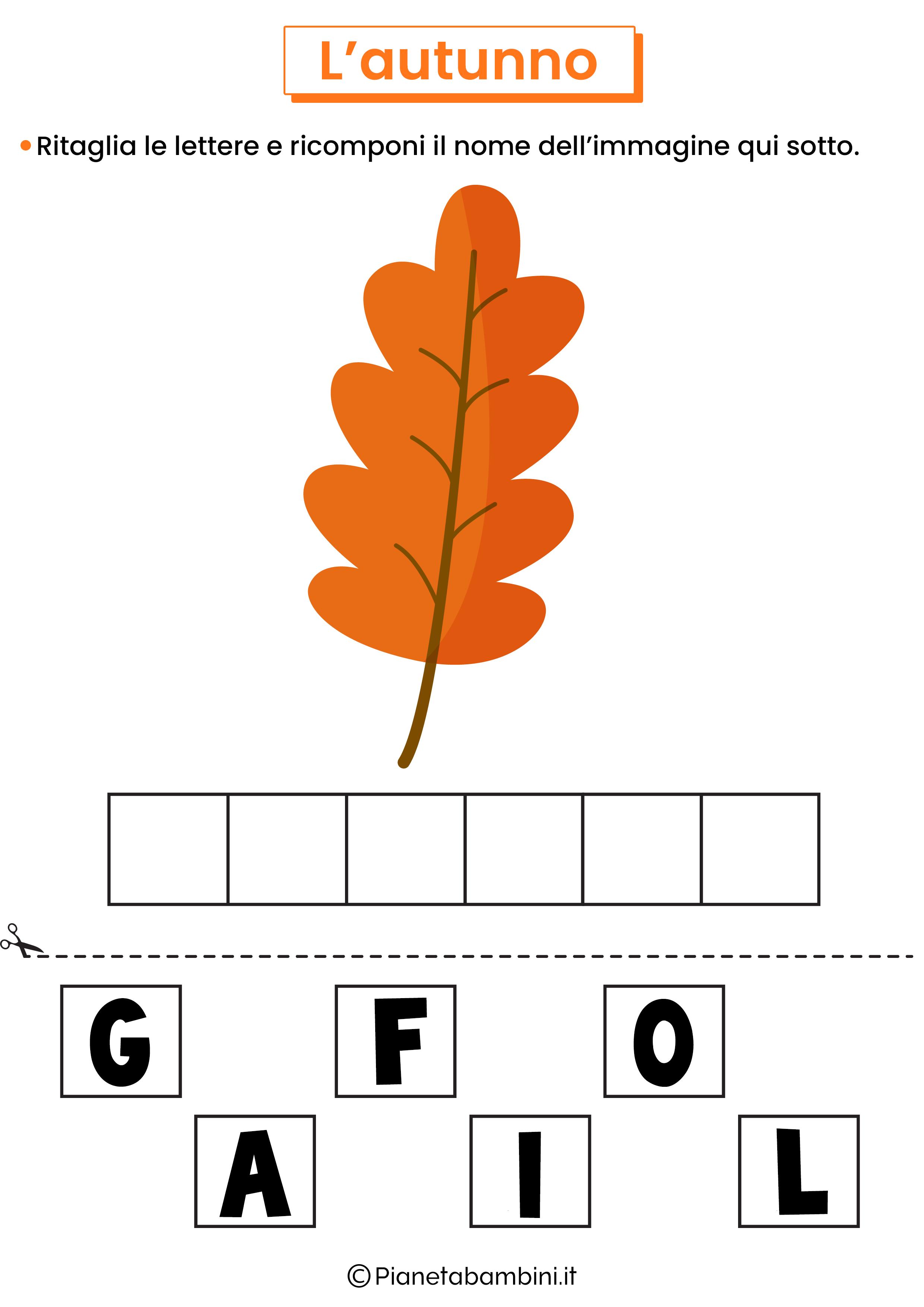 Schede didattiche sull'autunno per la scuola primaria 10