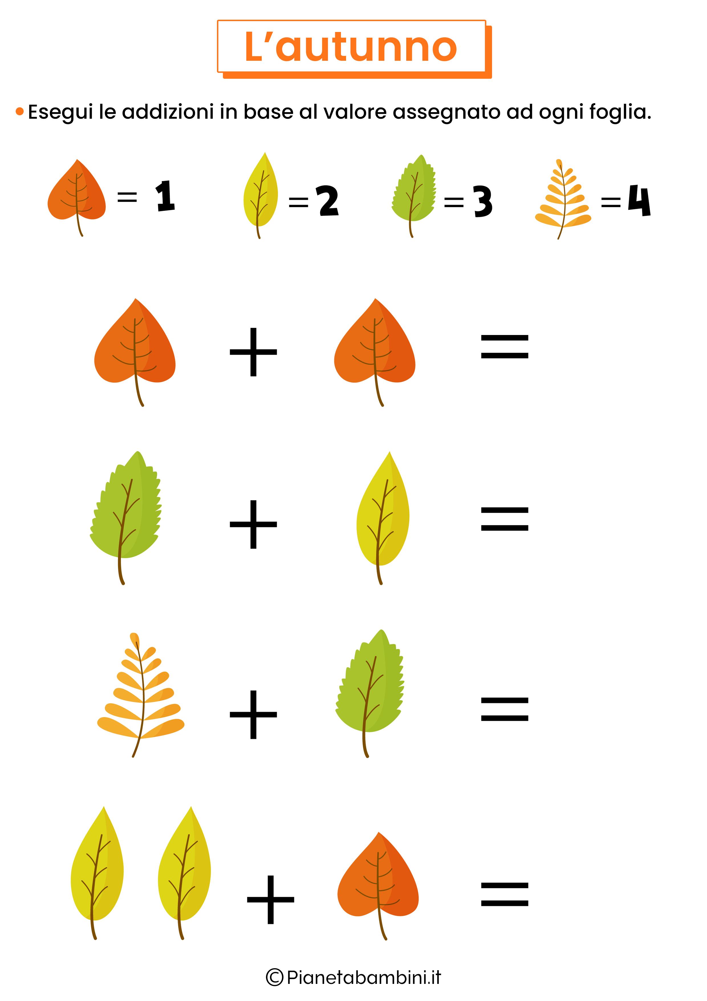 Schede didattiche sull'autunno per la scuola primaria 14