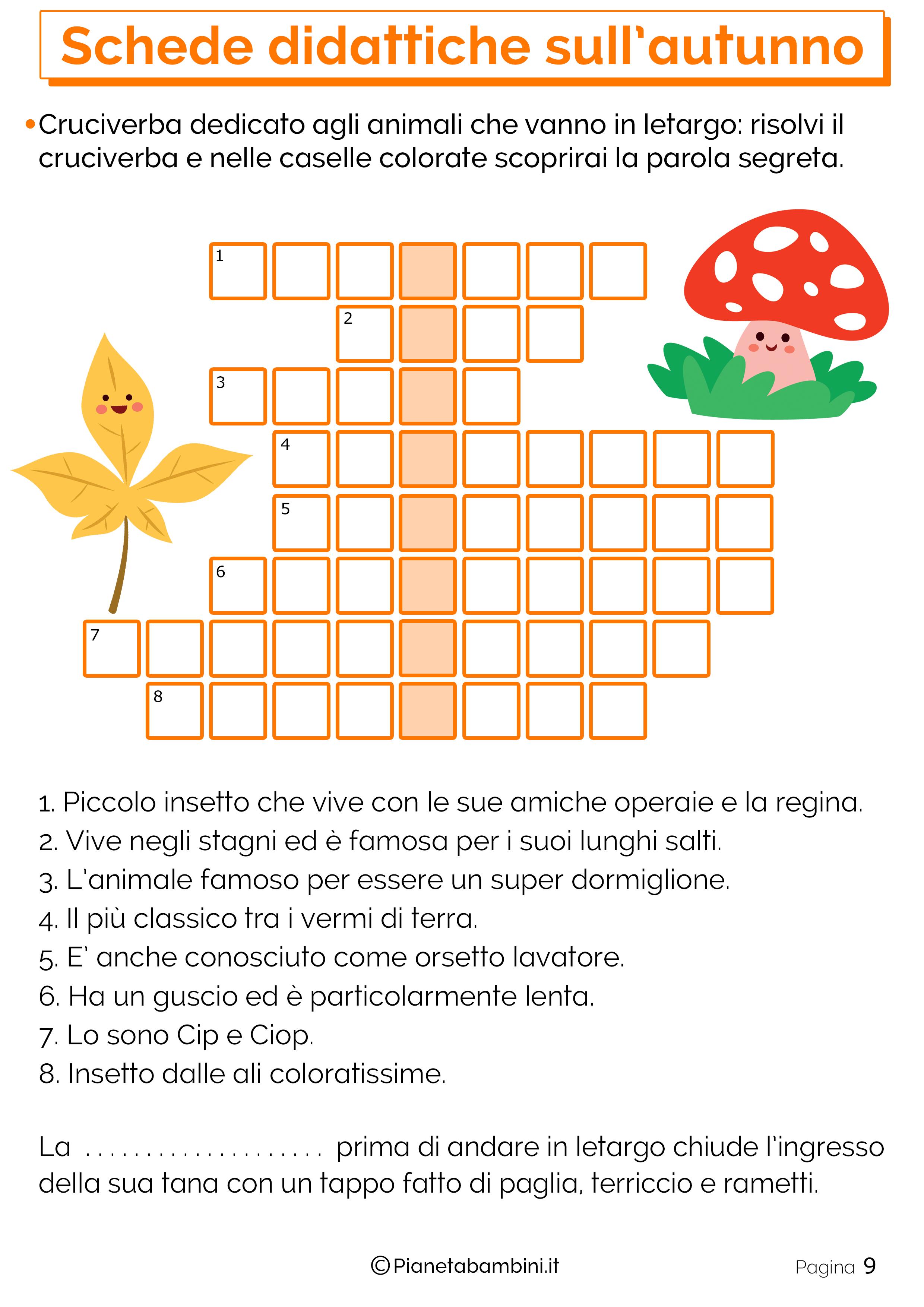 Esercizi sull'autunno per la scuola primaria 9