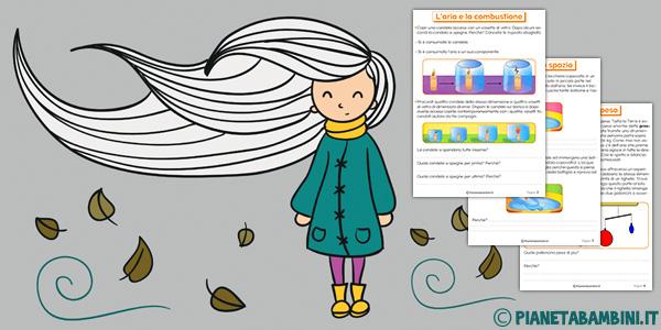 Esercizi sull'aria per la scuola primaria da stampare gratis