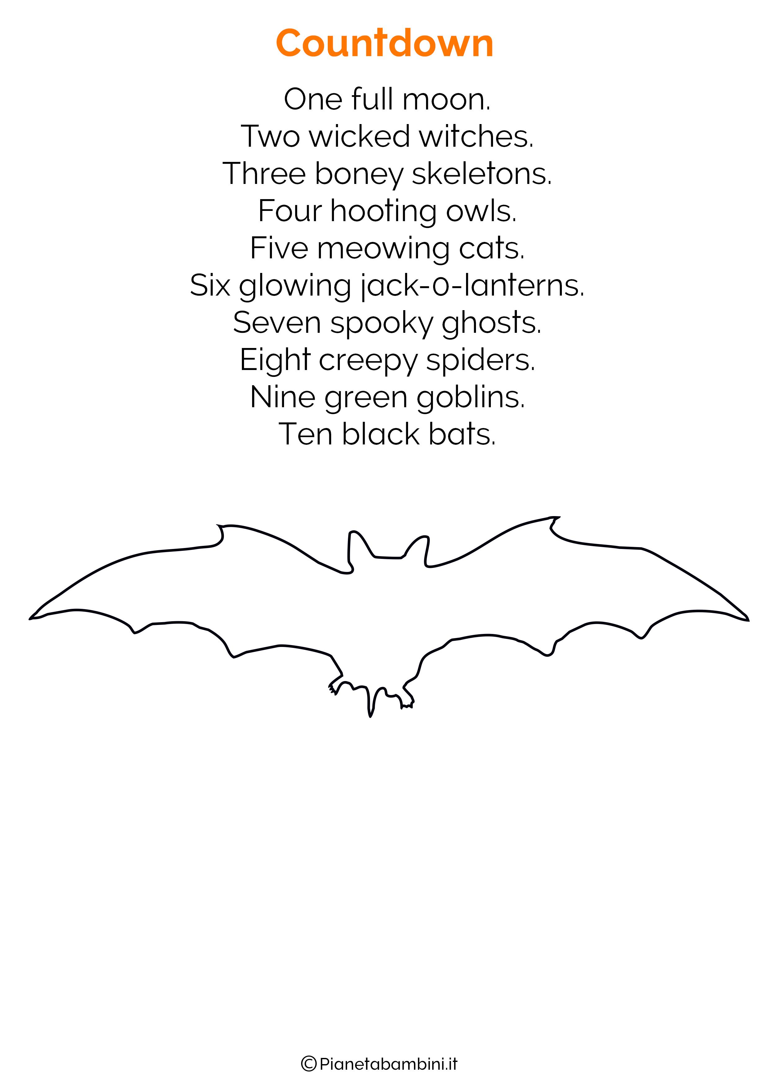 Filastrocca di Halloween in Inglese per bambini 08