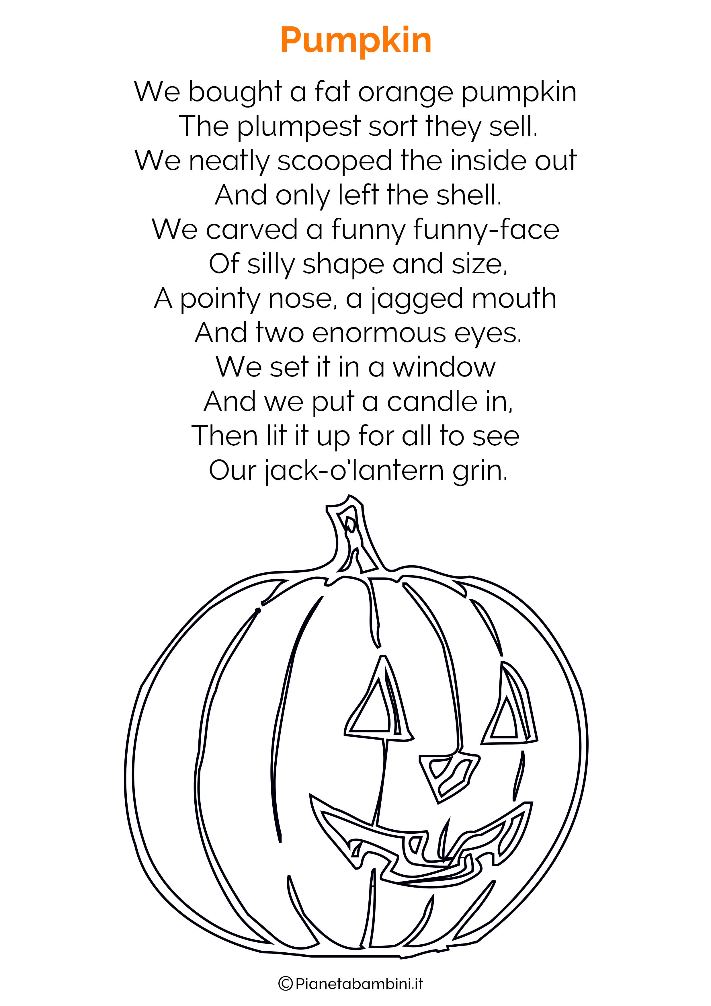 Filastrocca di Halloween in Inglese per bambini 09
