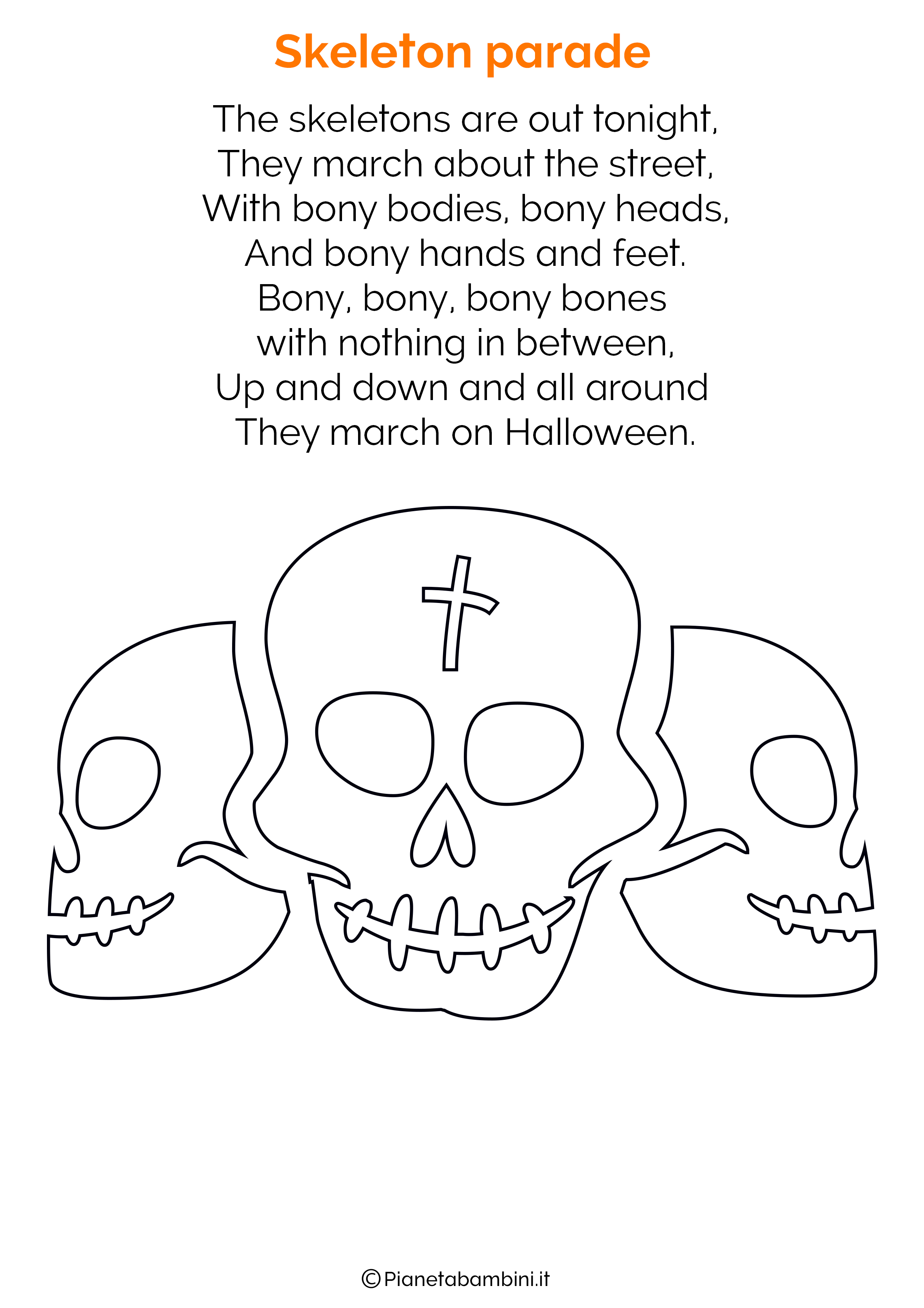 Filastrocca di Halloween in Inglese per bambini 11