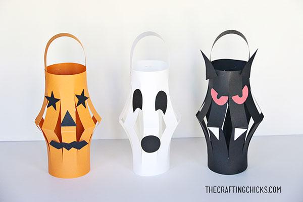 Come creare delle lanterne di Halloween fai da te con cartoncino colorato