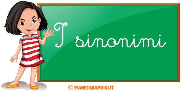 Esercizi sui sinonimi per la scuola primaria da stampare gratis