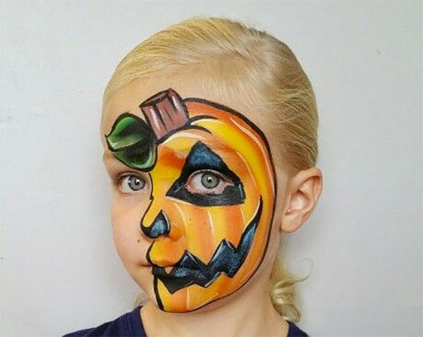 Trucco da zucca per Halloween 1