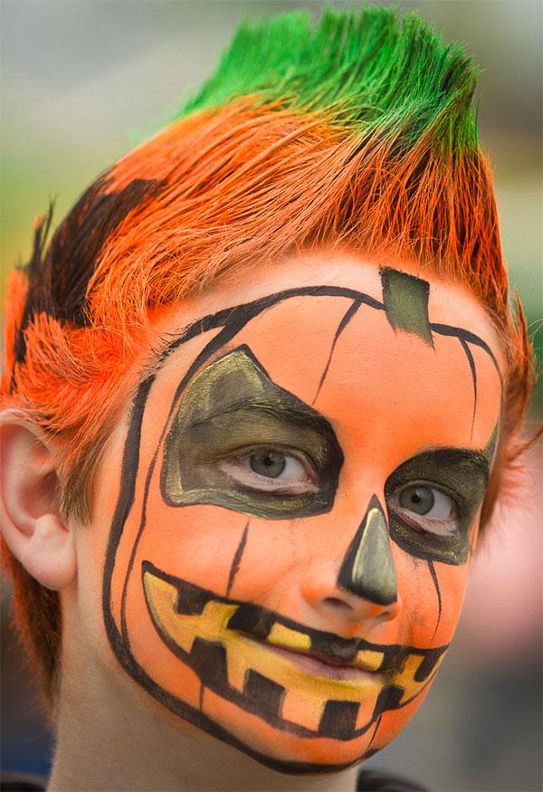 Trucco da zucca per Halloween 3